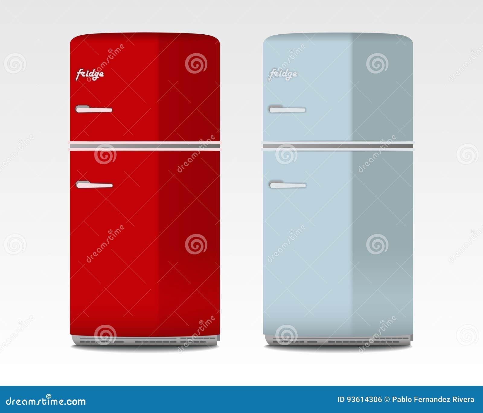 Retro Refrigerators Stock Illustrations – 52 Retro Refrigerators ...