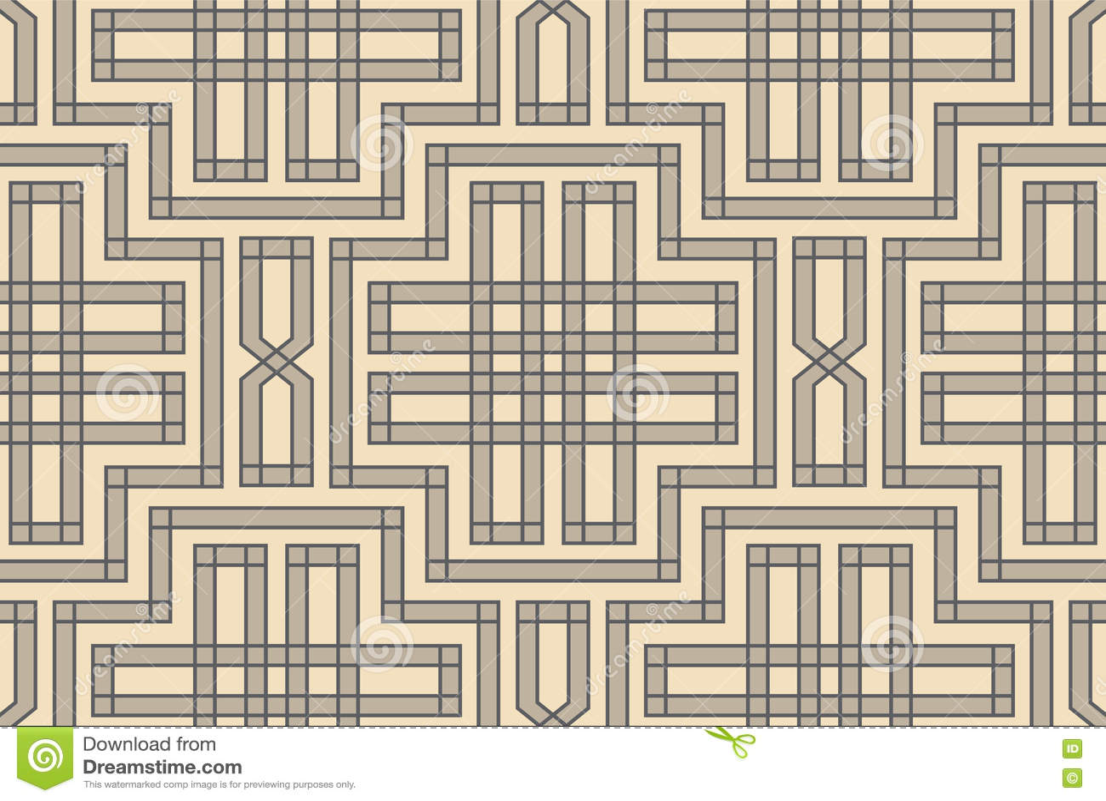 Retro repetitive wallpaper - Vintage vector pattern