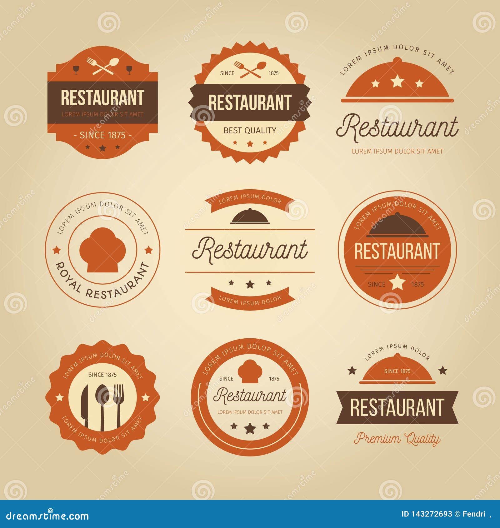 Retro Restaurant Logo Stock Vector Illustration Of Emblem 143272693