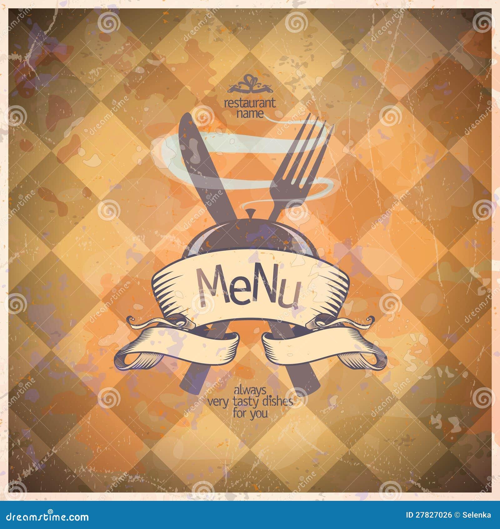 retro restaurant menu card design  royalty free stock