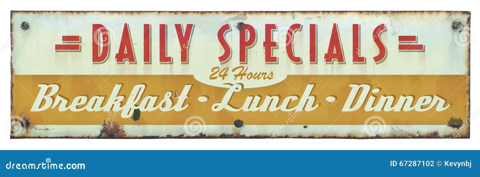 Retro Restaurant Sign