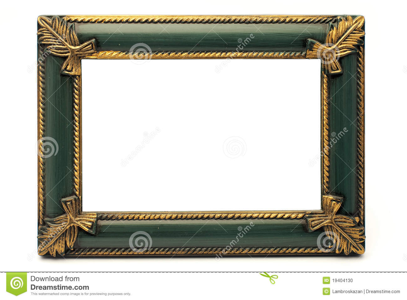 Retro Revival Old Gold And Green Frame No 1 Stock Photo