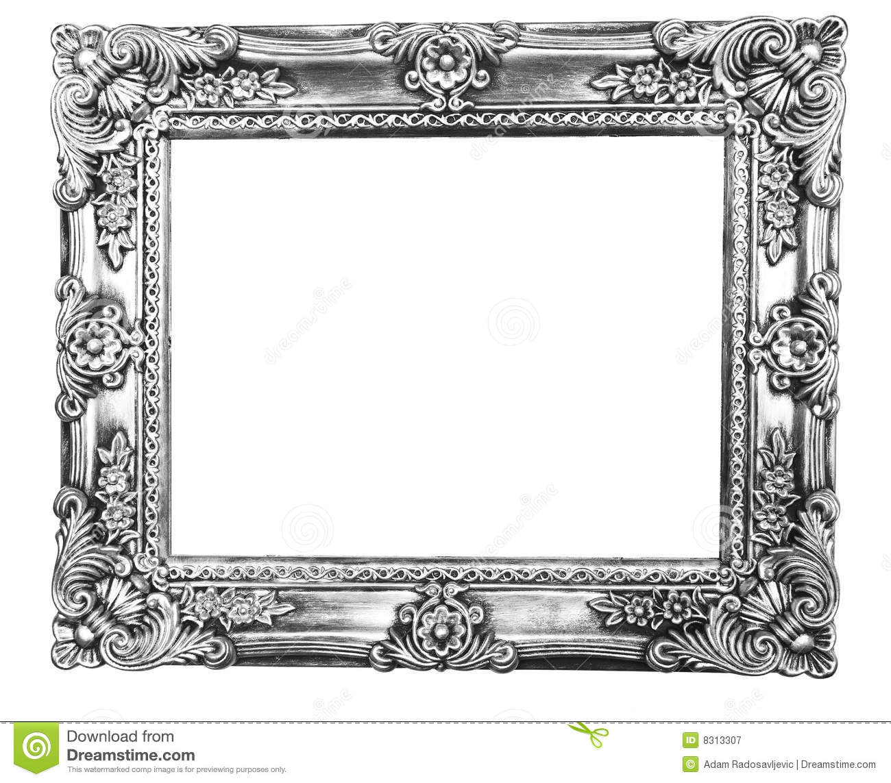 Retro revival old silver frame stock image image 8313307 for How to make vintage frames