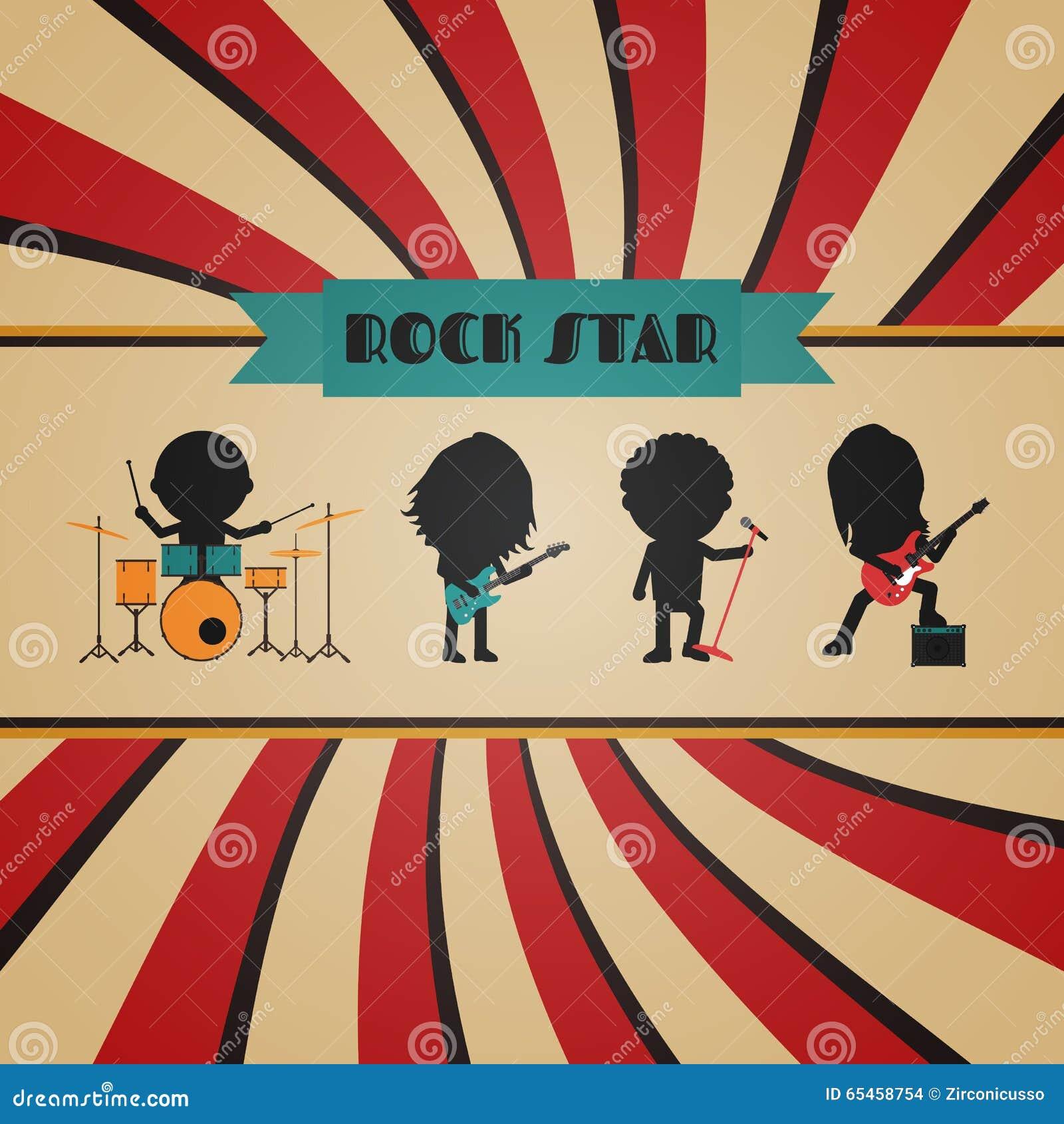Retro Rock Poster Stock Vector Illustration Of Amplifier
