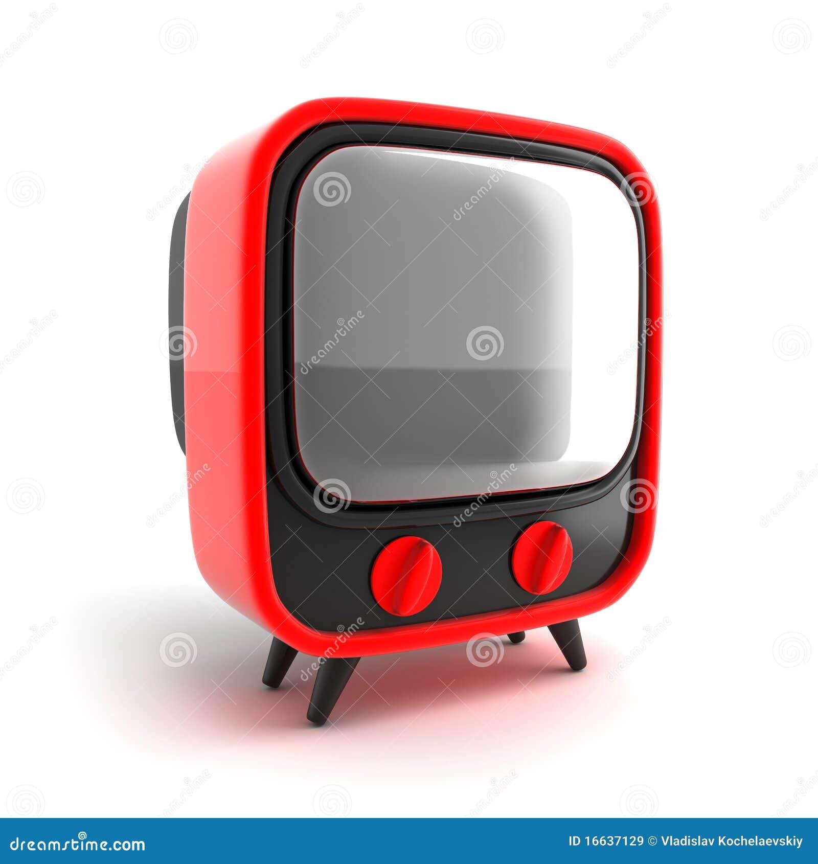 Retro rode tv royalty vrije stock afbeeldingen afbeelding 16637129 - Meubilair tv rode ...
