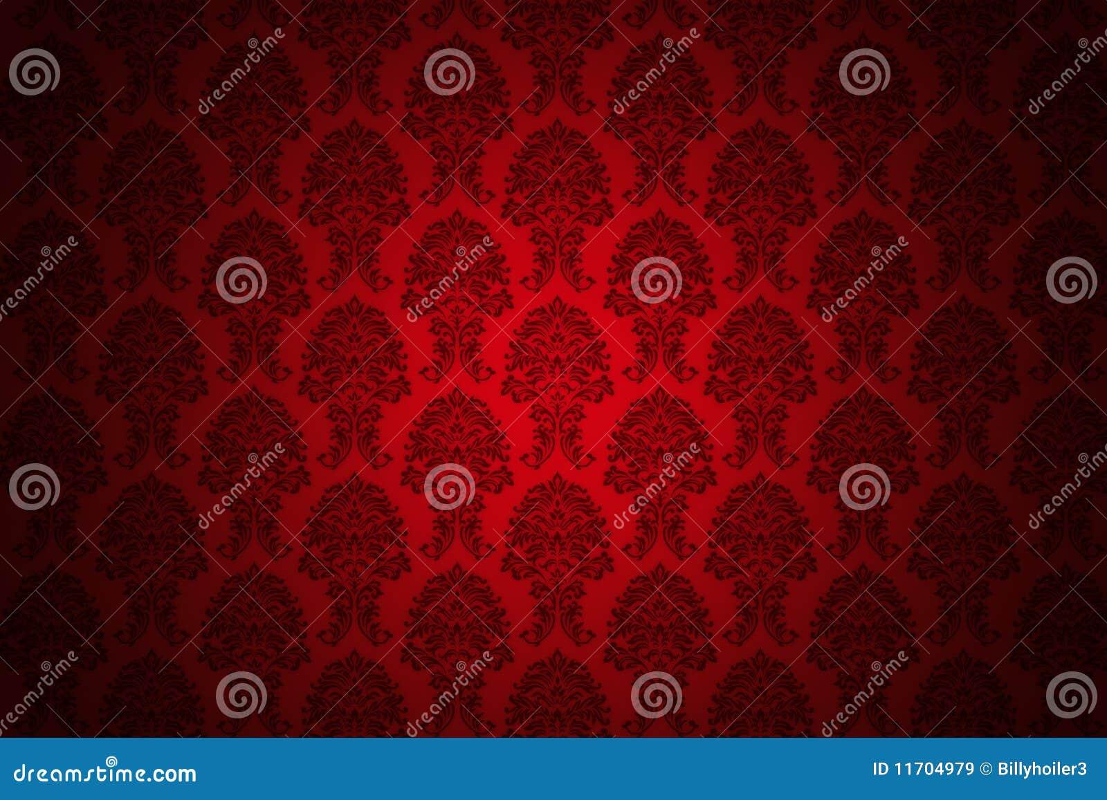 Retro rood luxebehang