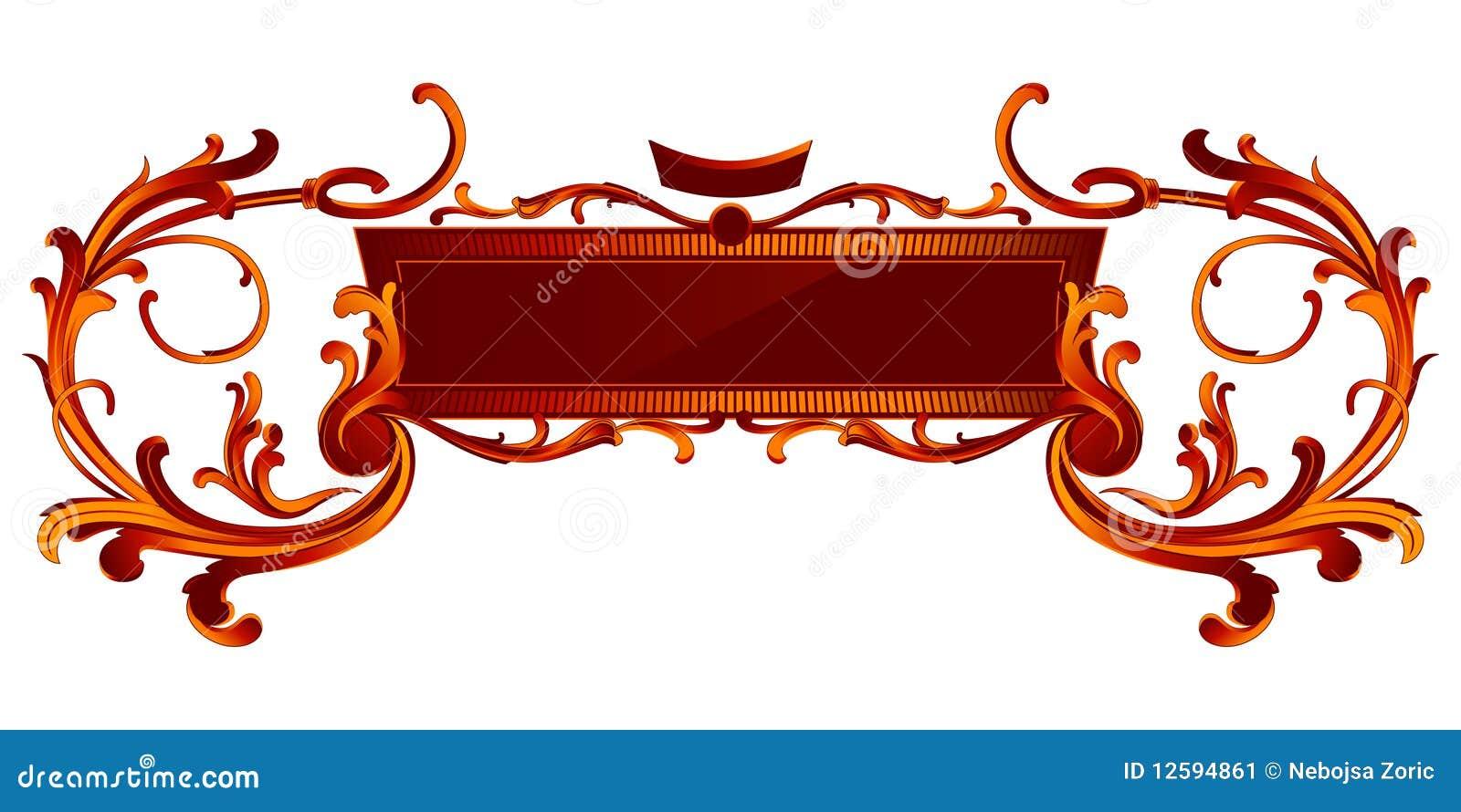Retro royal banner stock vector. Illustration of plant ...