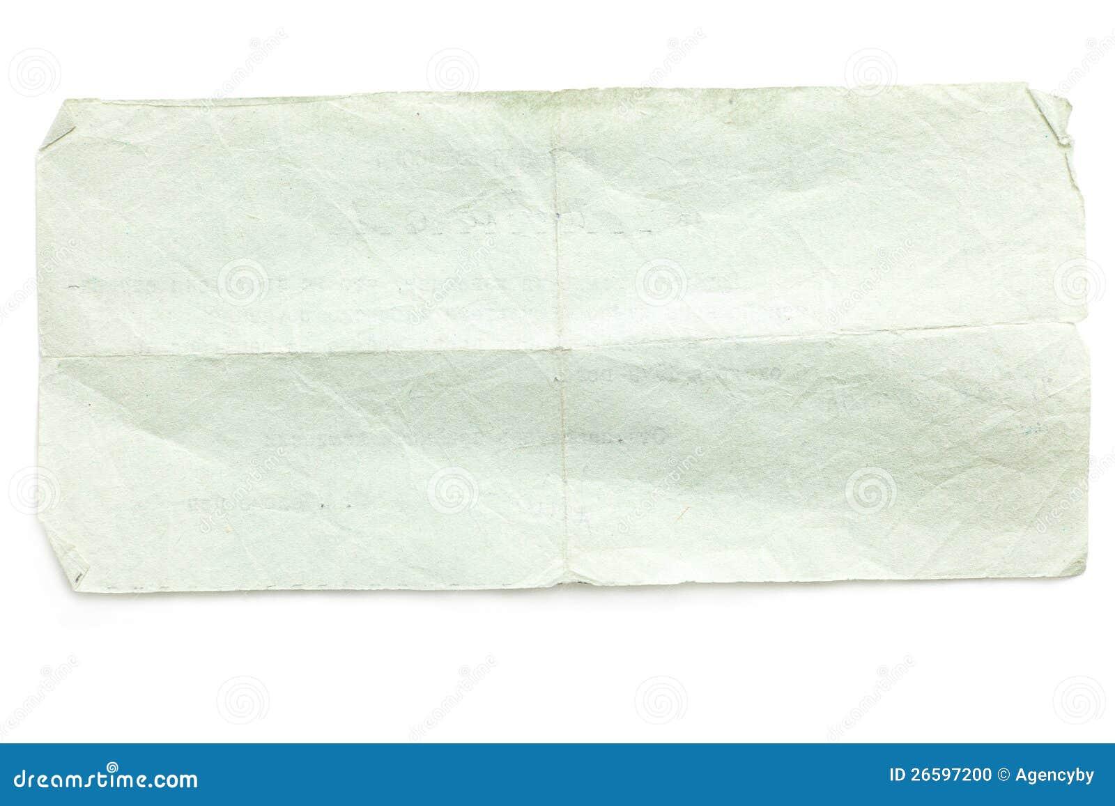 Retro rozdzierający stary papier