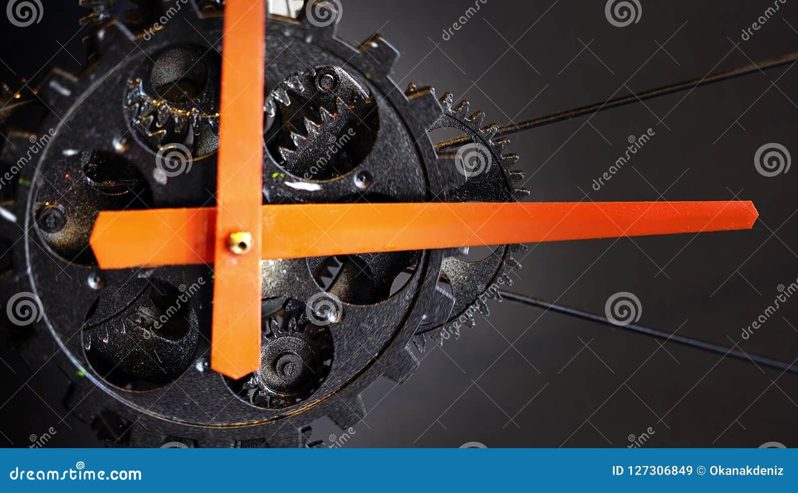 Retro Rusty Mechanic Clock Gears