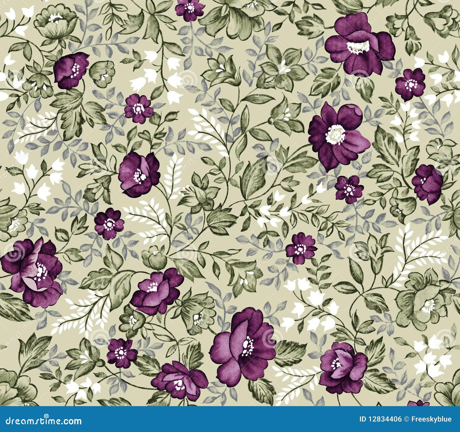 retro seamless damask flower pattern stock illustration