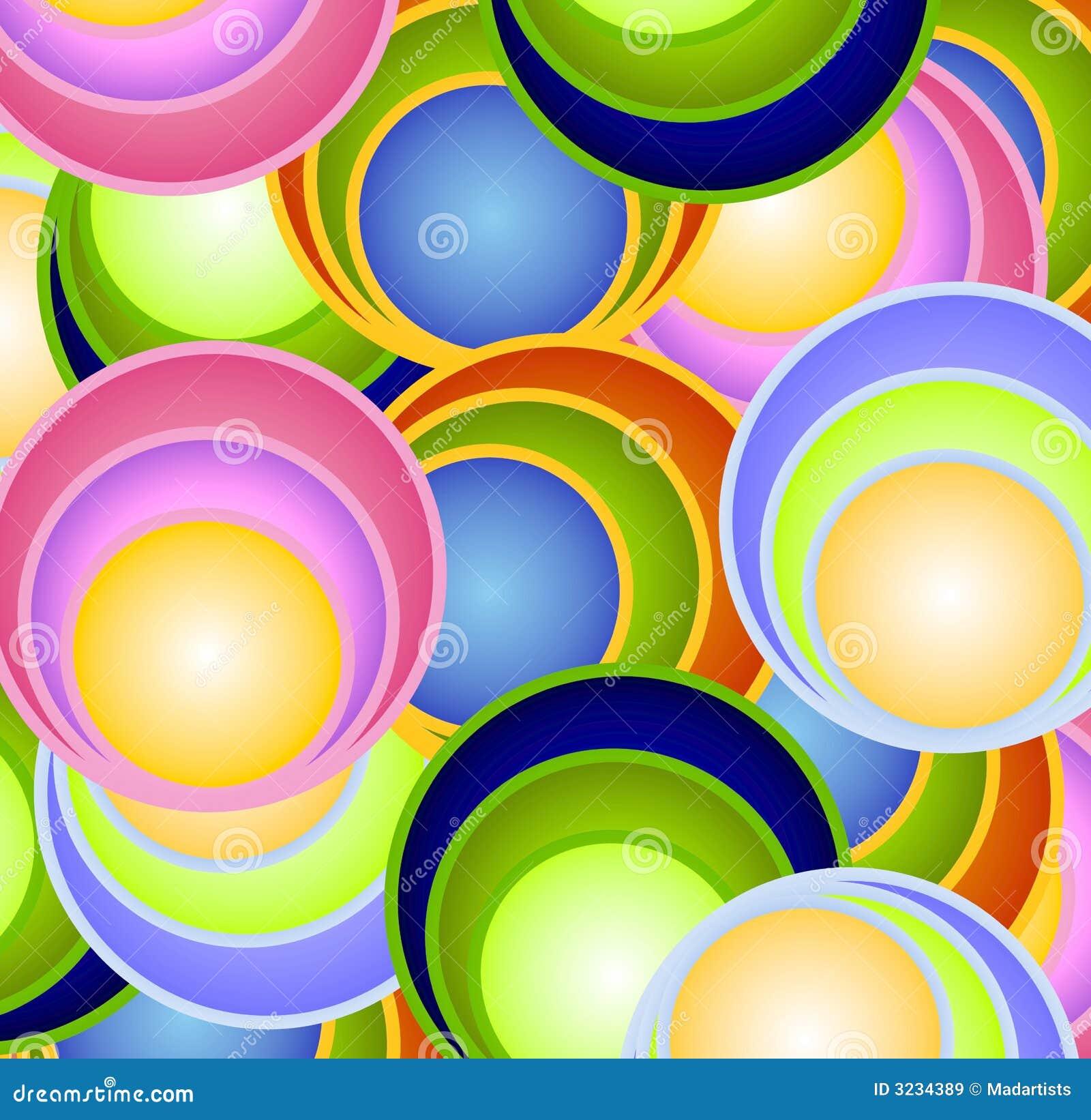 Retro sfere delle sfere dei cerchi