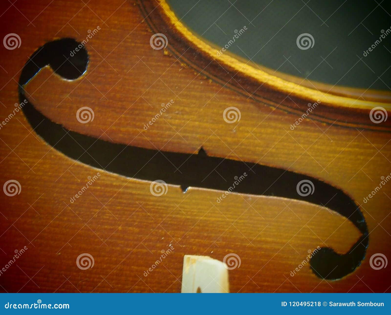 Retro Skrzypcowy melodii Rozsądnej dziury Muzyczny instrument Inspiruje Pinhole widok