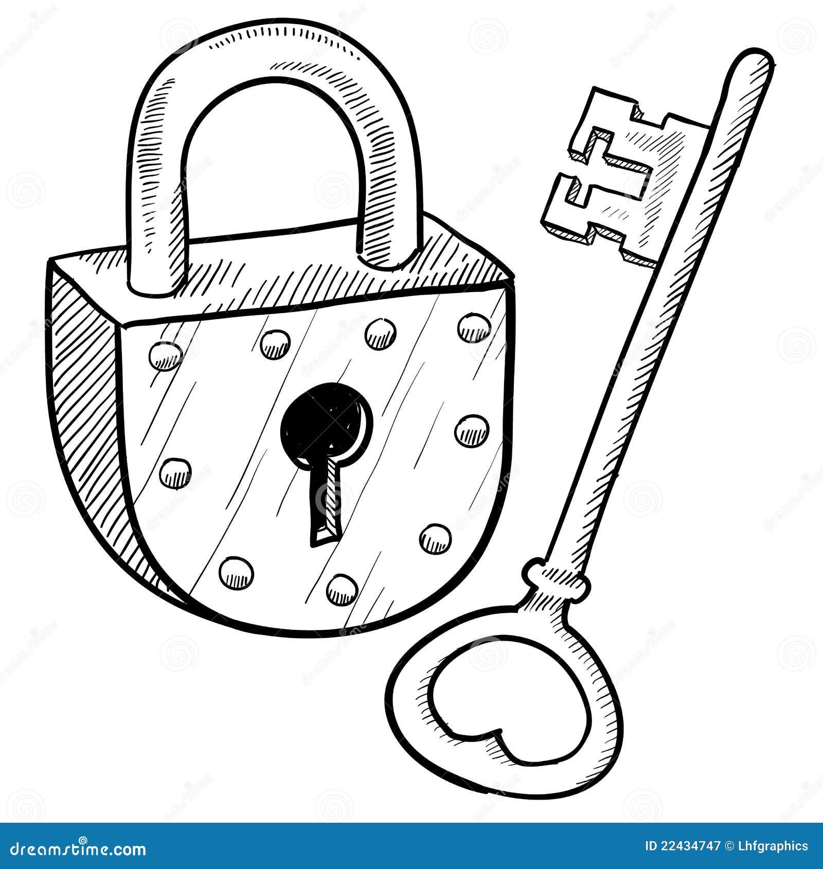 retro slot en sleutel royalty vrije stock fotografie