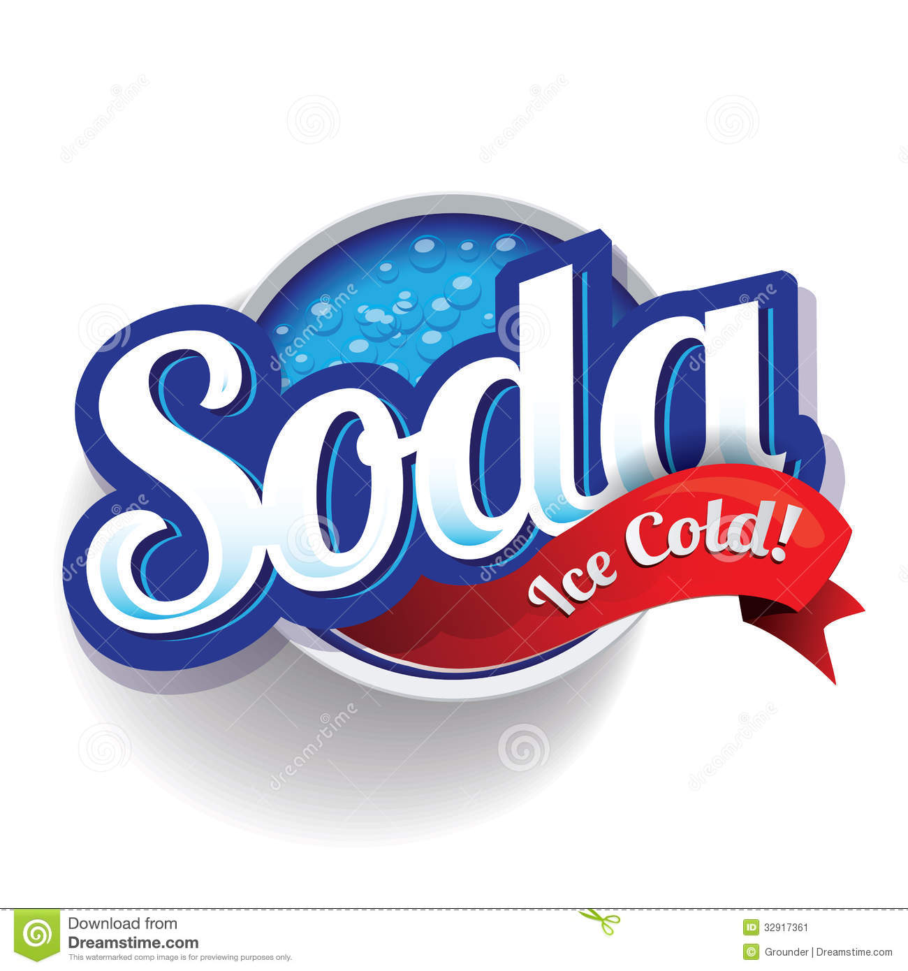 Retro Soda Design Vector Stock Vector Image Of Faded
