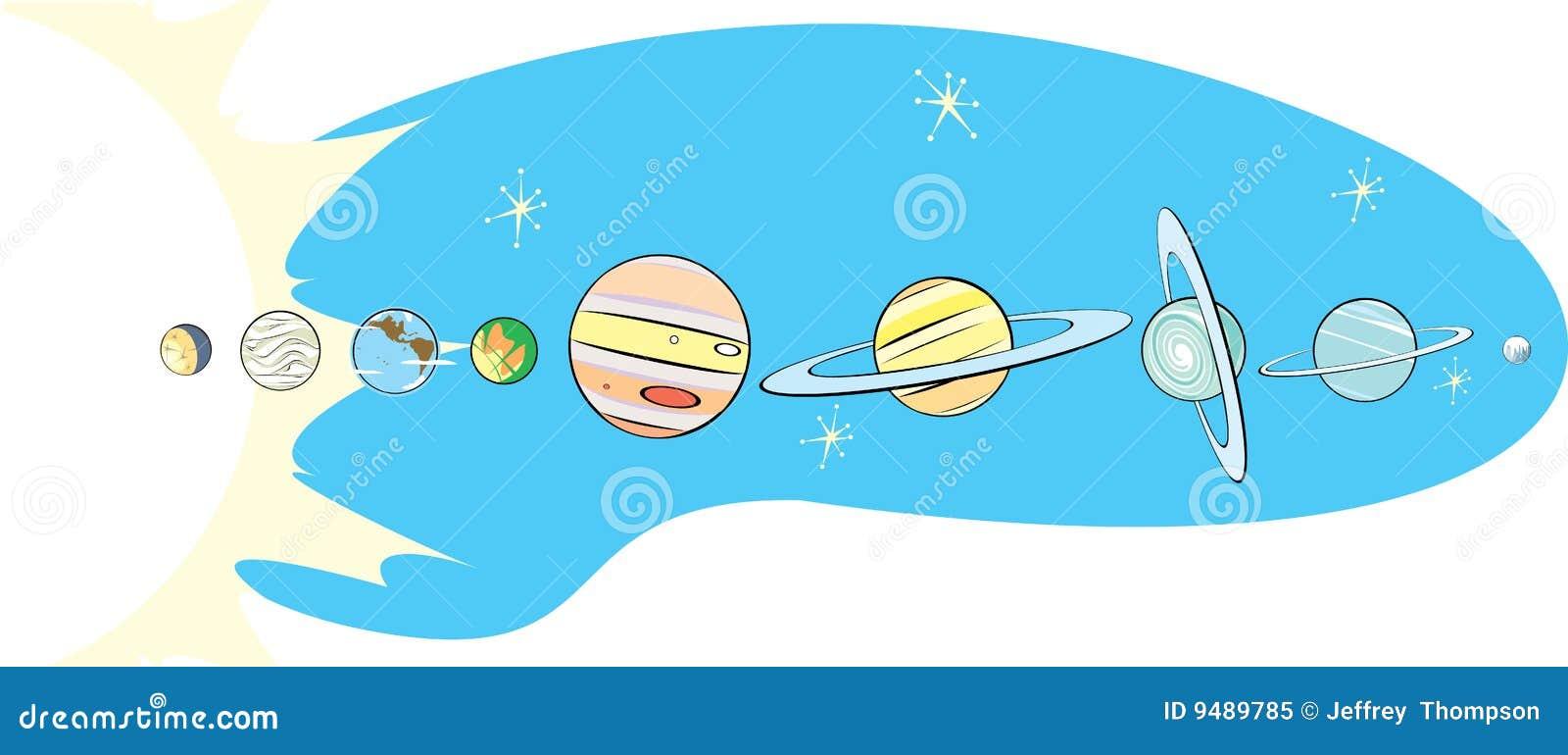 Map Pluto Retro Solar System Probe