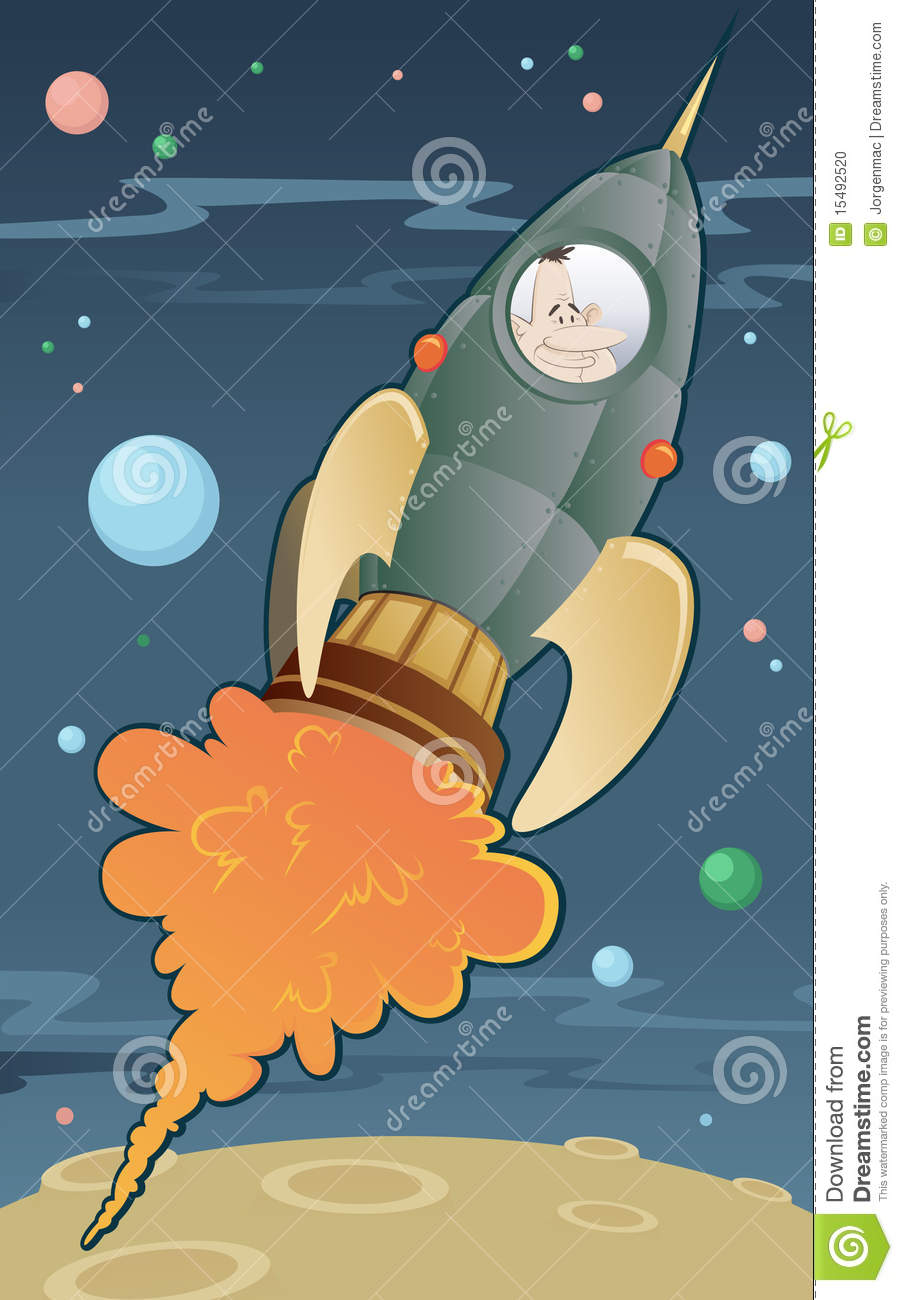 Retro space rocket stock photo image 15492520 for Retro outer space