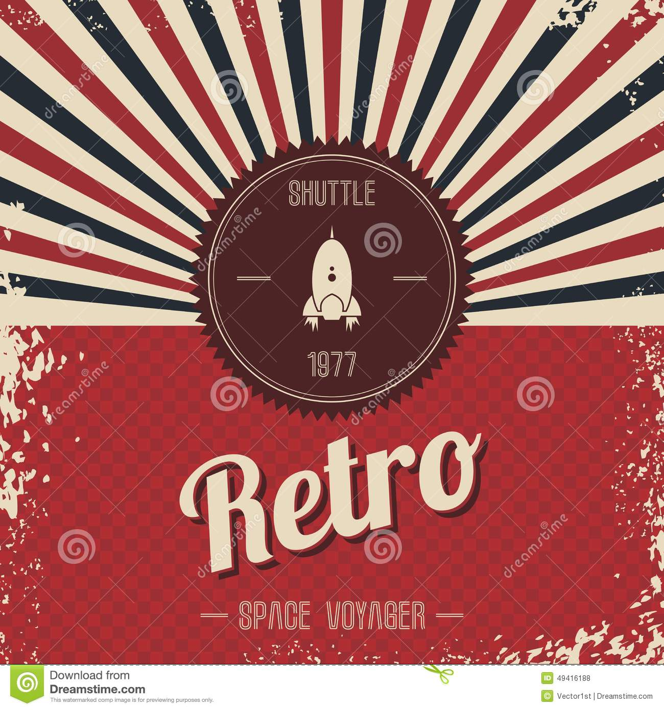Royalty Free Stock Photo  Download Retro Space Rocket Template Theme. Retro Space Rocket Template Theme Stock Photo   Image  49416188