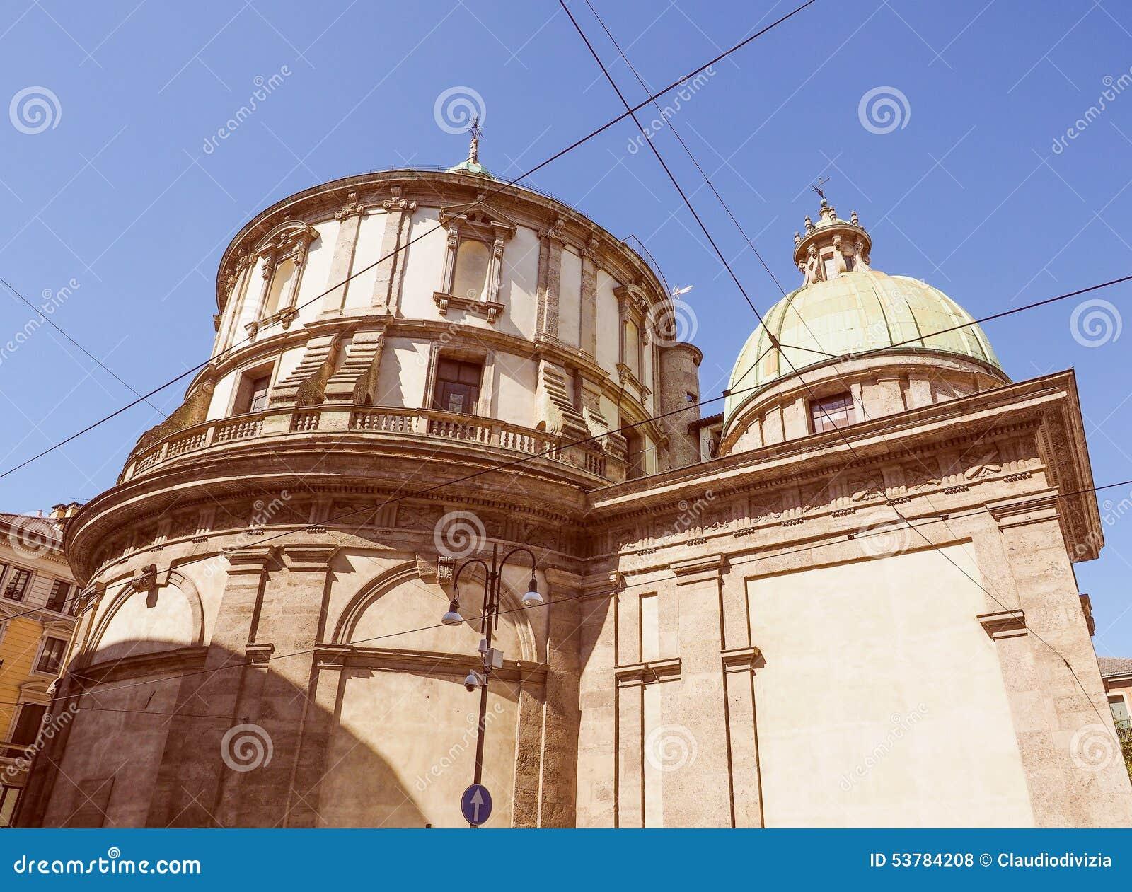 Retro spojrzenie świątynia San Sebastiano
