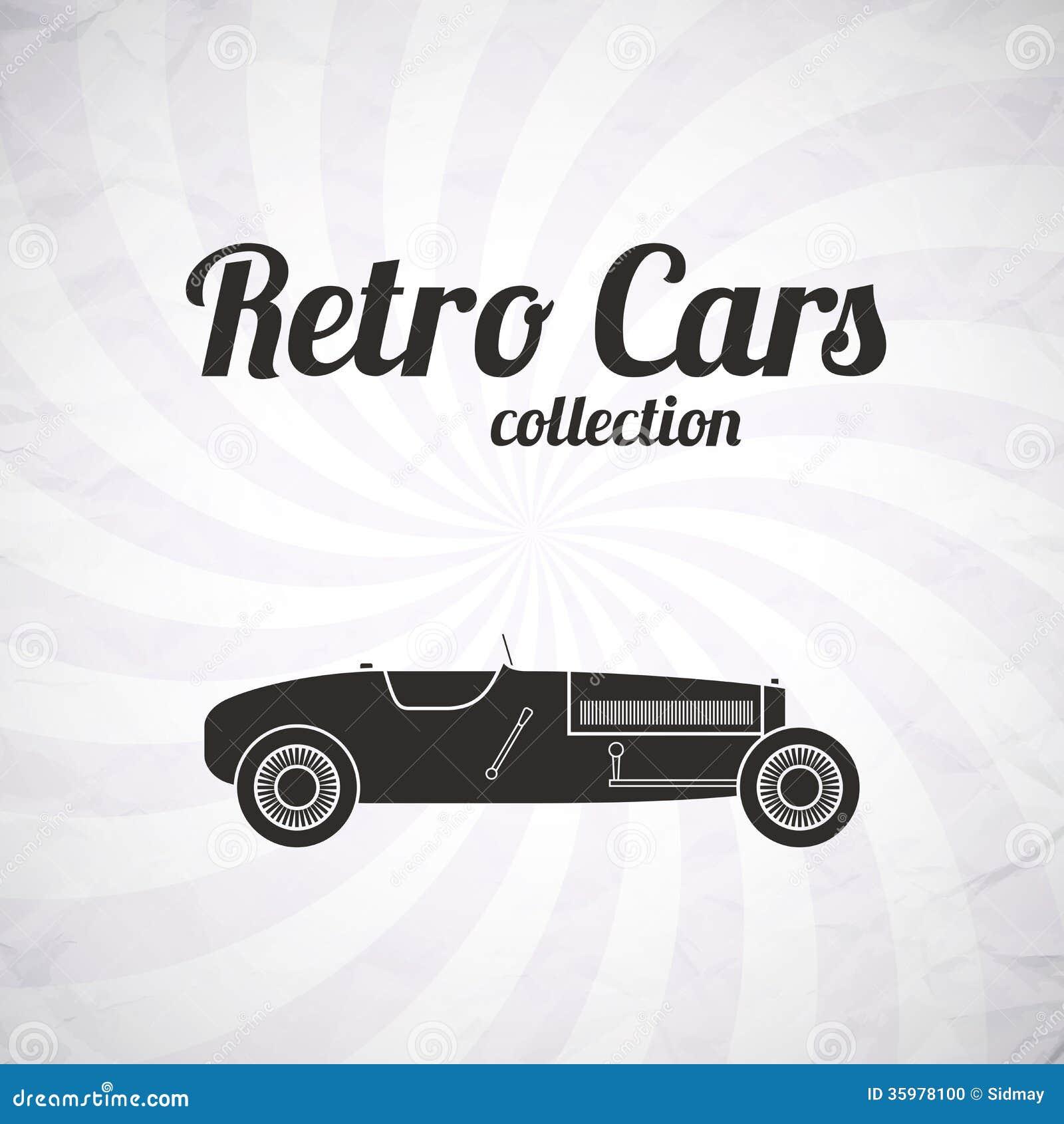 Retro Sport Racing Car, Vintage Collection Stock Vector ...