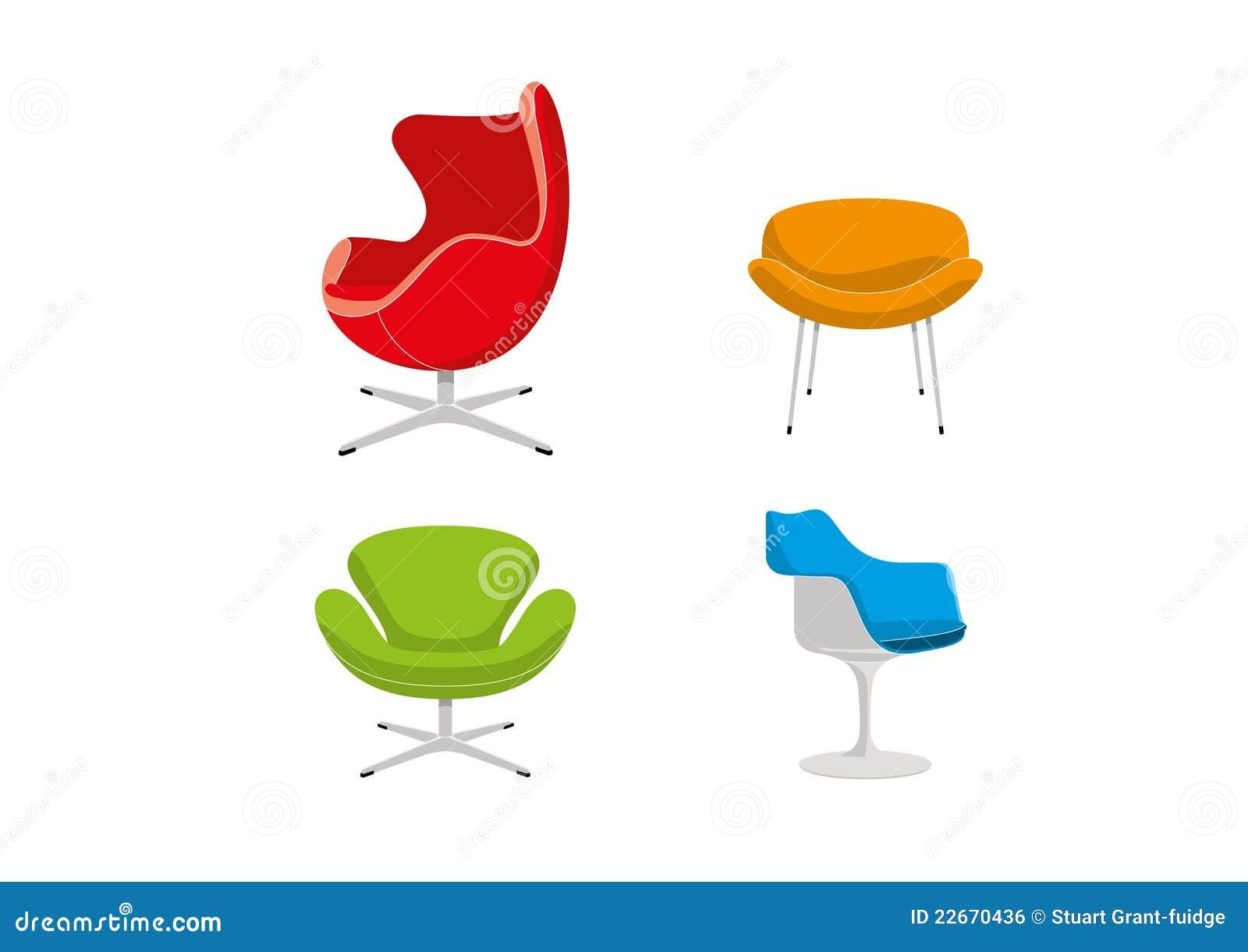retro st hle lizenzfreies stockbild bild 22670436. Black Bedroom Furniture Sets. Home Design Ideas