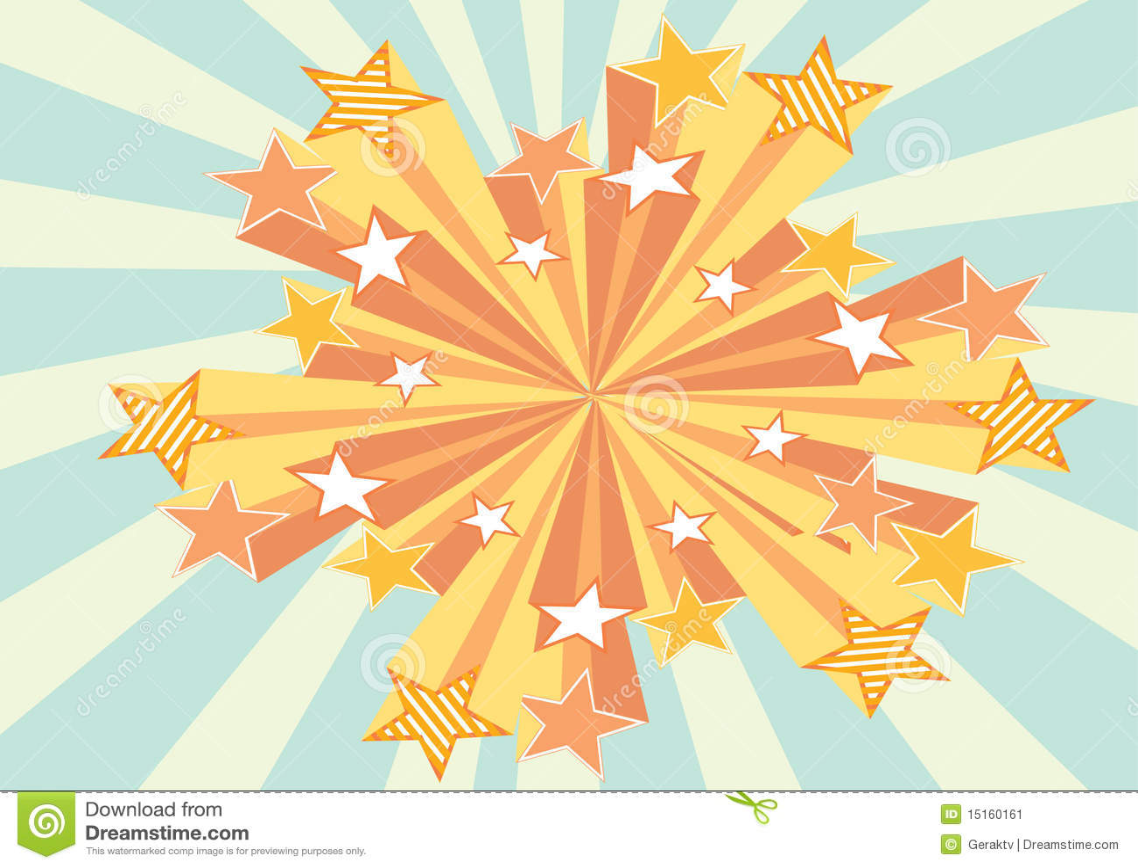 Retro Stars Background Stock Image - Image: 15160161