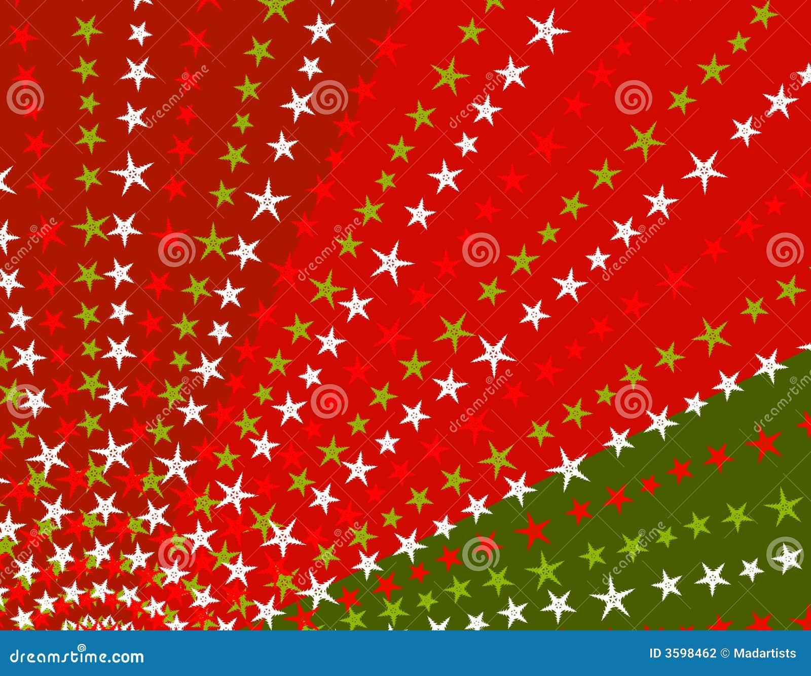 Christmas Colors.Retro Stars Xmas Background Stock Illustration