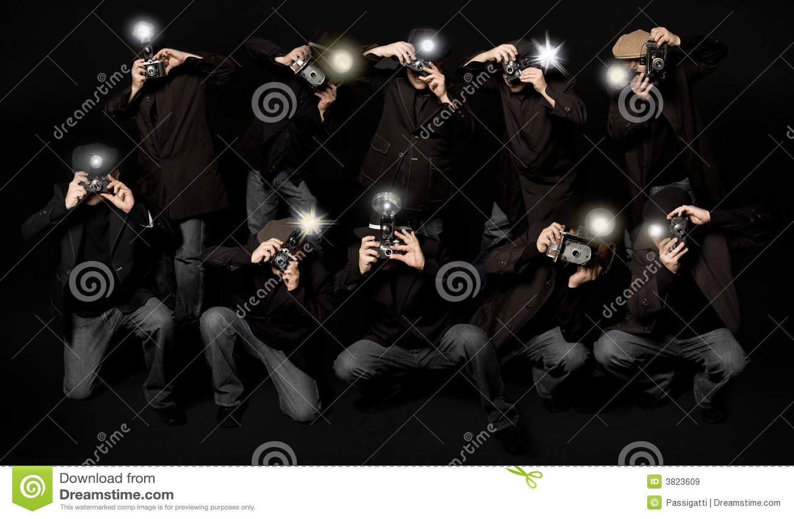 Retro stil för paparazziphotojournalists