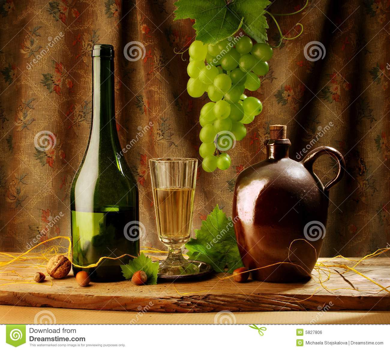 Retro still life with wine