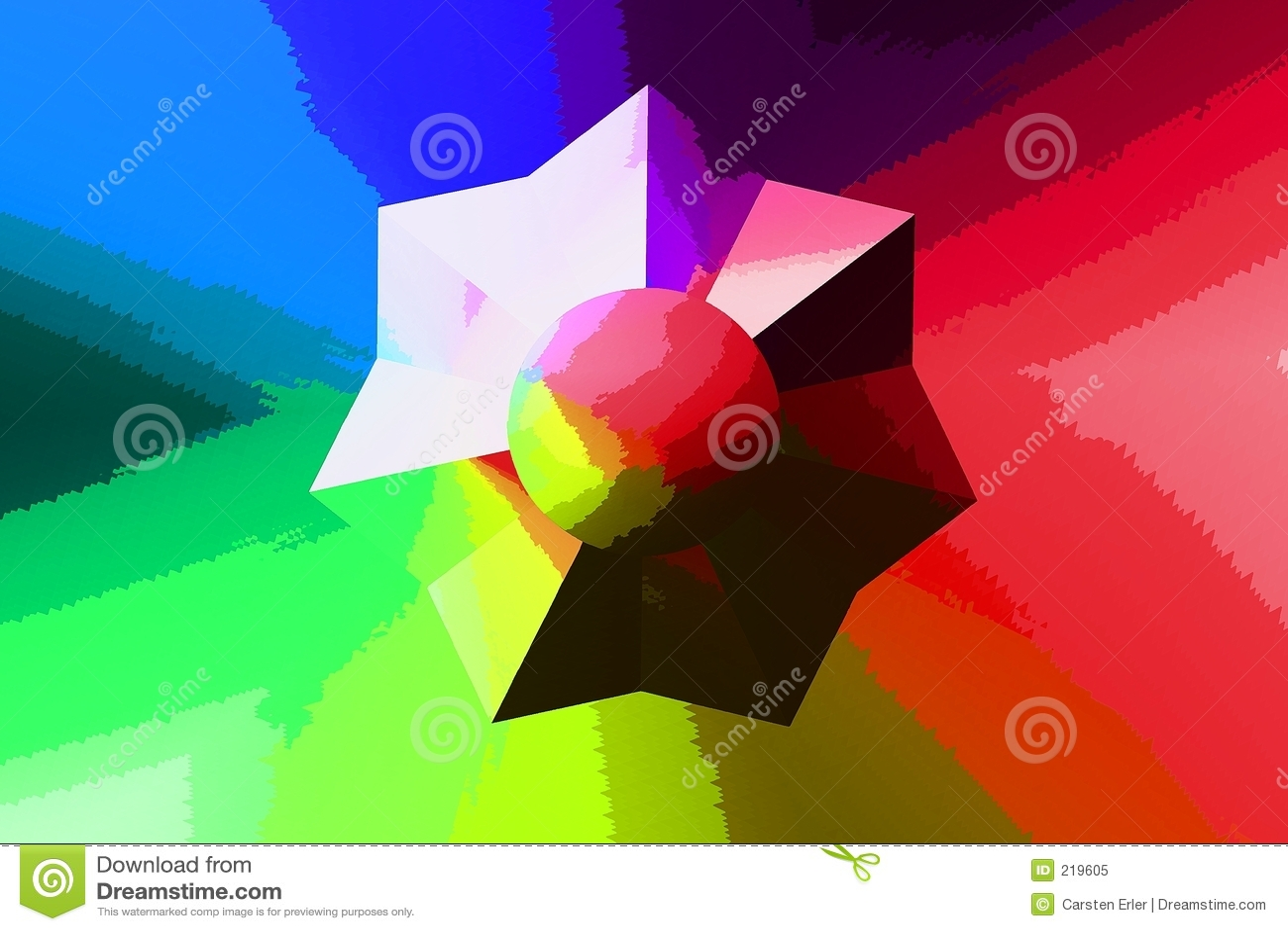 Retro stjärna för färg
