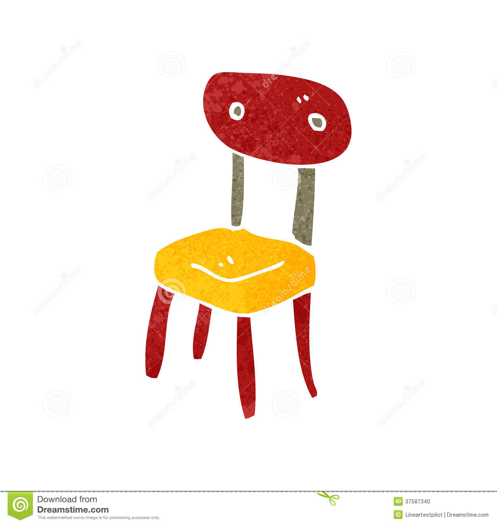 tecknad stol