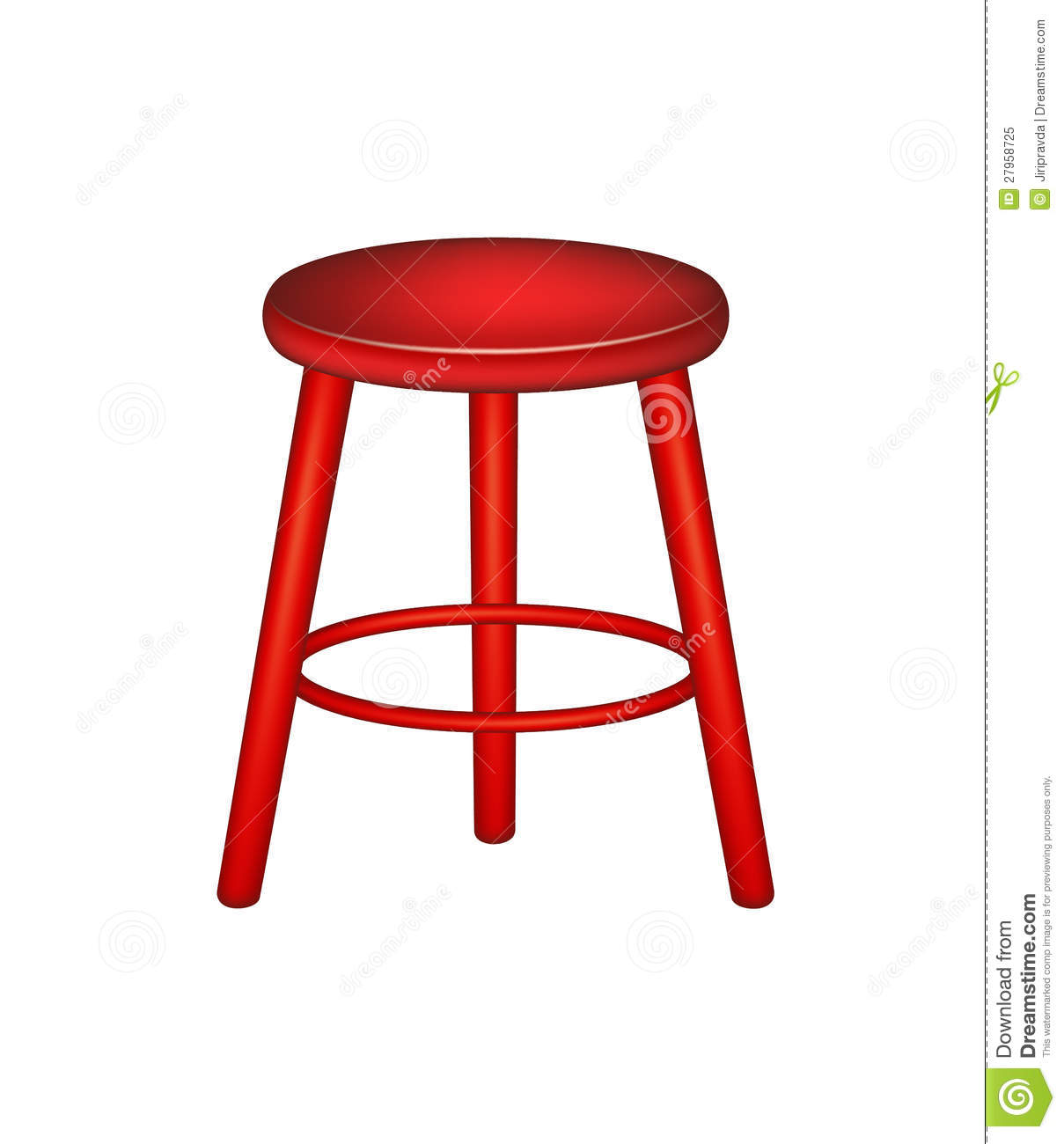 Retro Stool In Red Design Stock Vector Image Of Retro