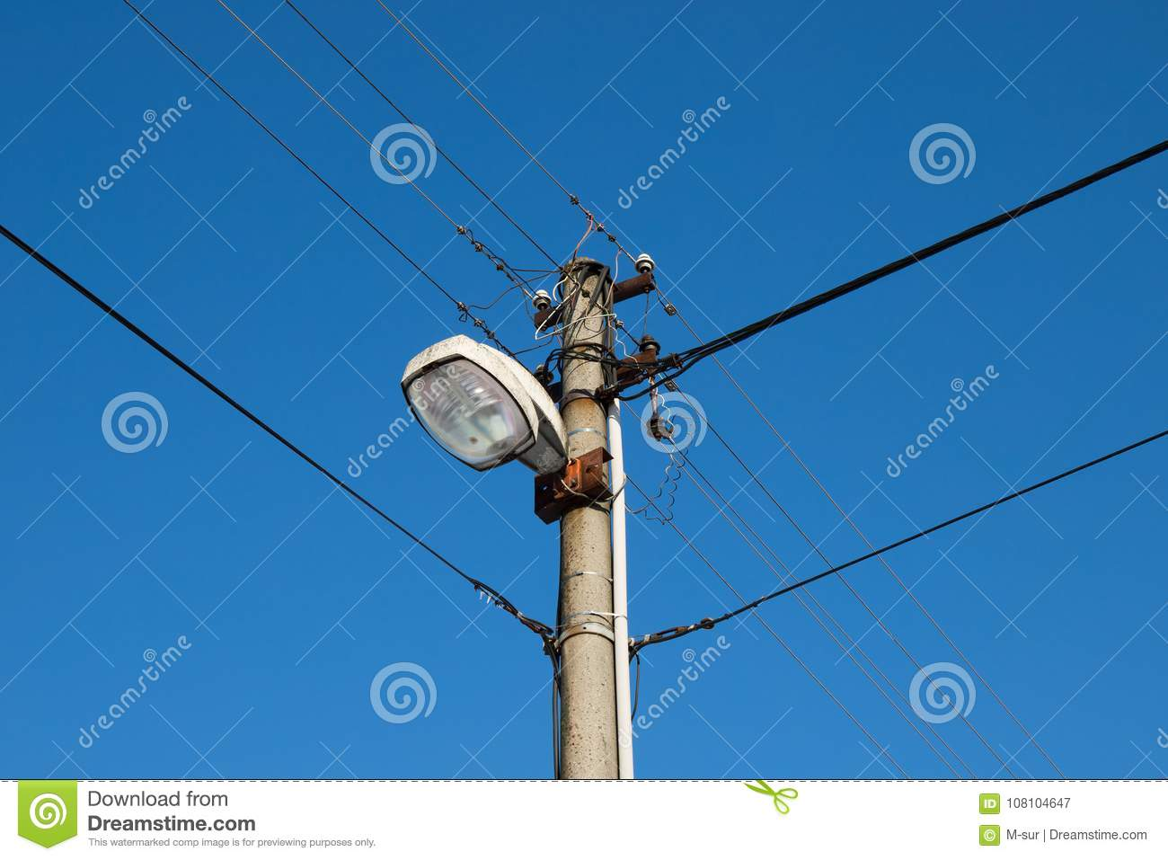 Retro Street Lamp. Light For Public Spaces. Stock Image - Image of ...