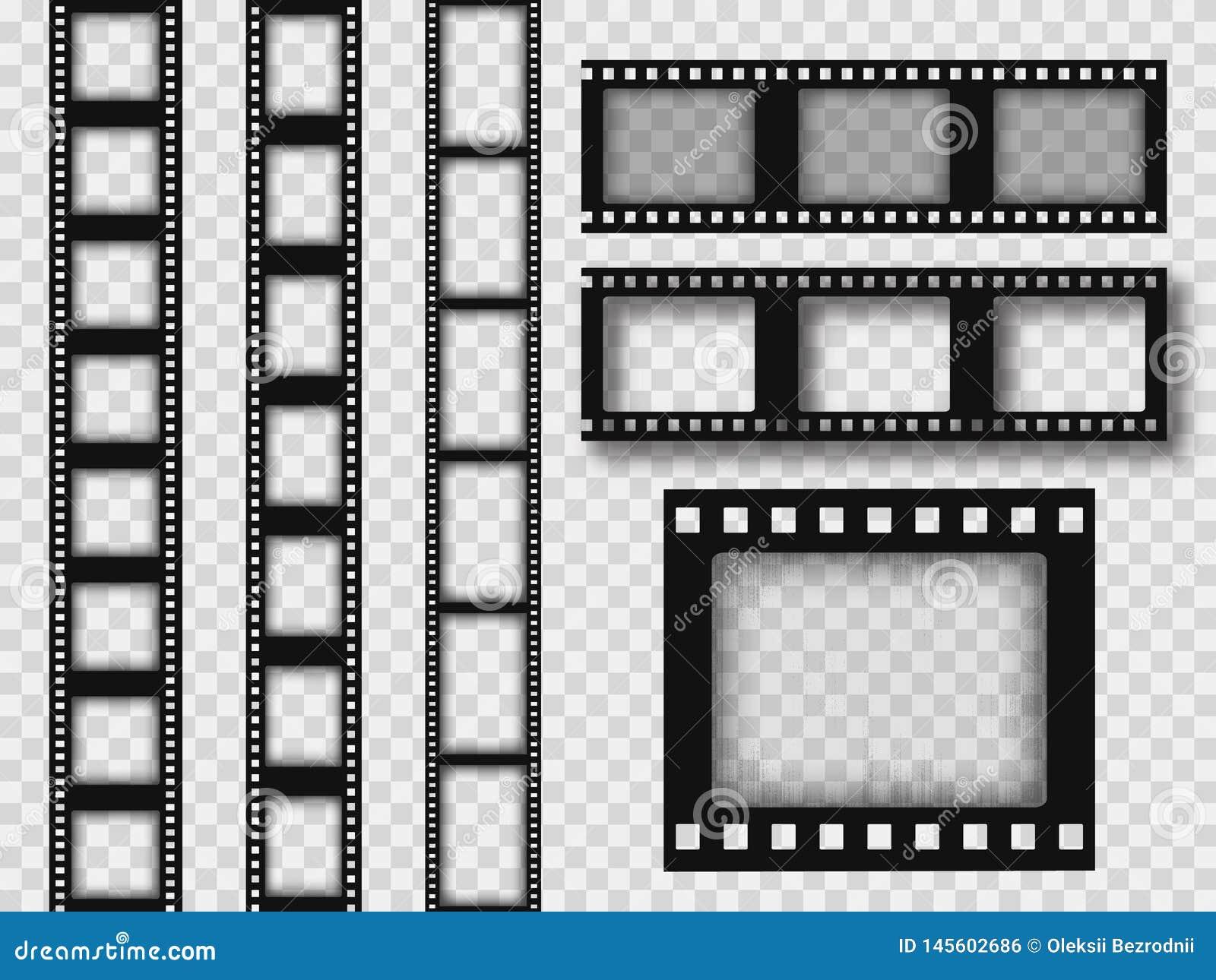 Retro striscia di pellicola di 35mm