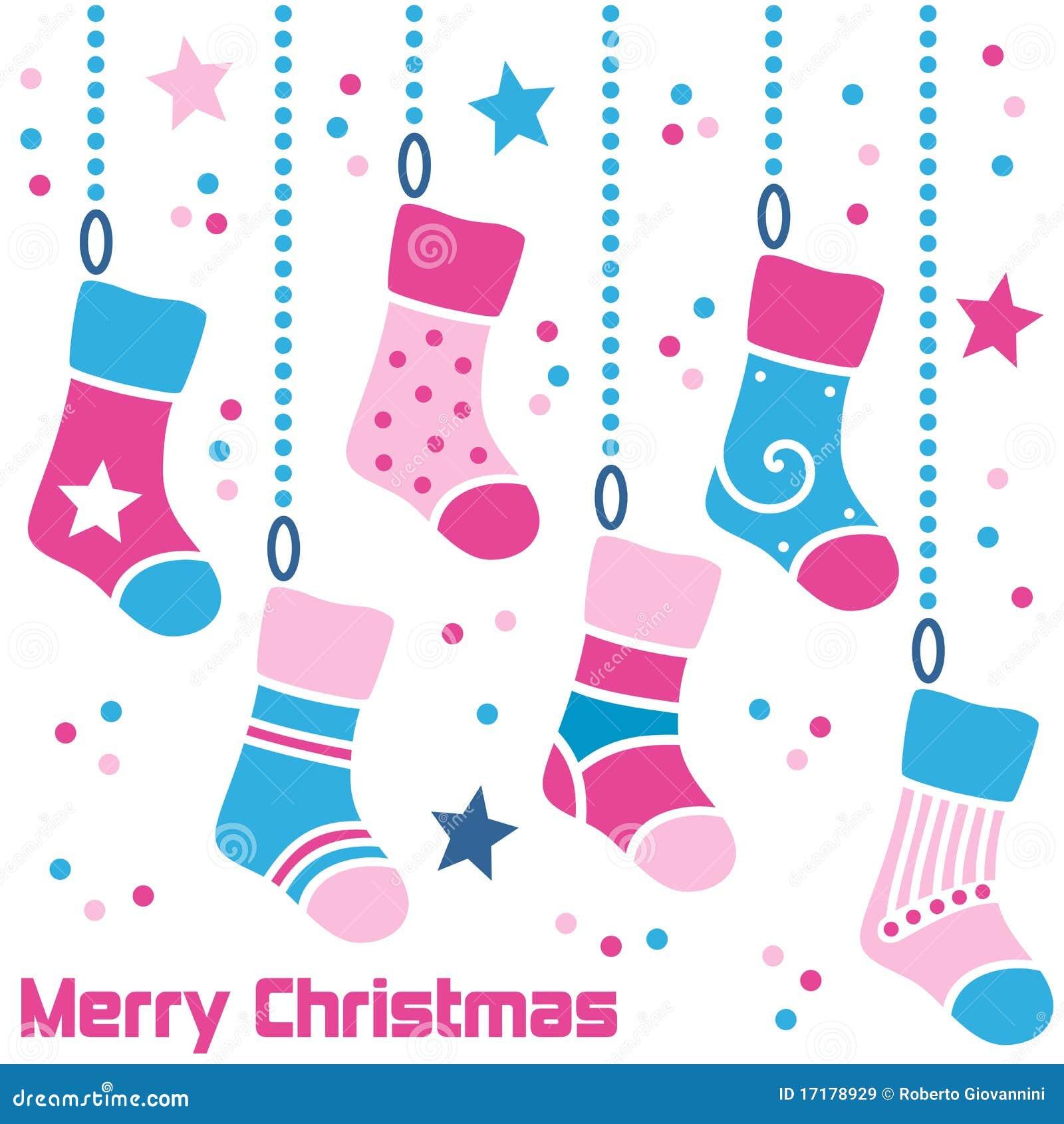 Retro strumpor för jul