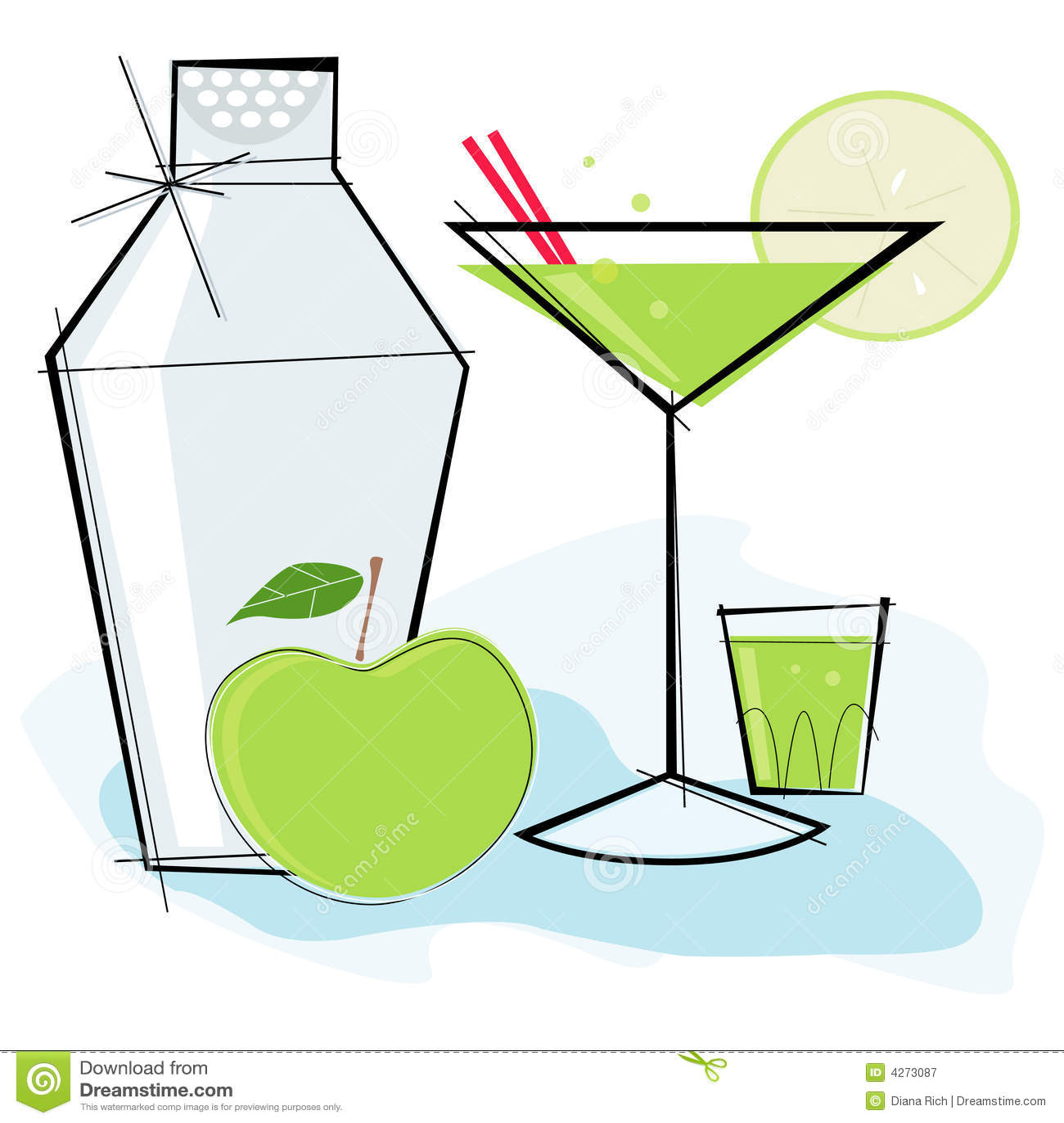 Retro-style Apple Martini Royalty Free Stock Photography ...
