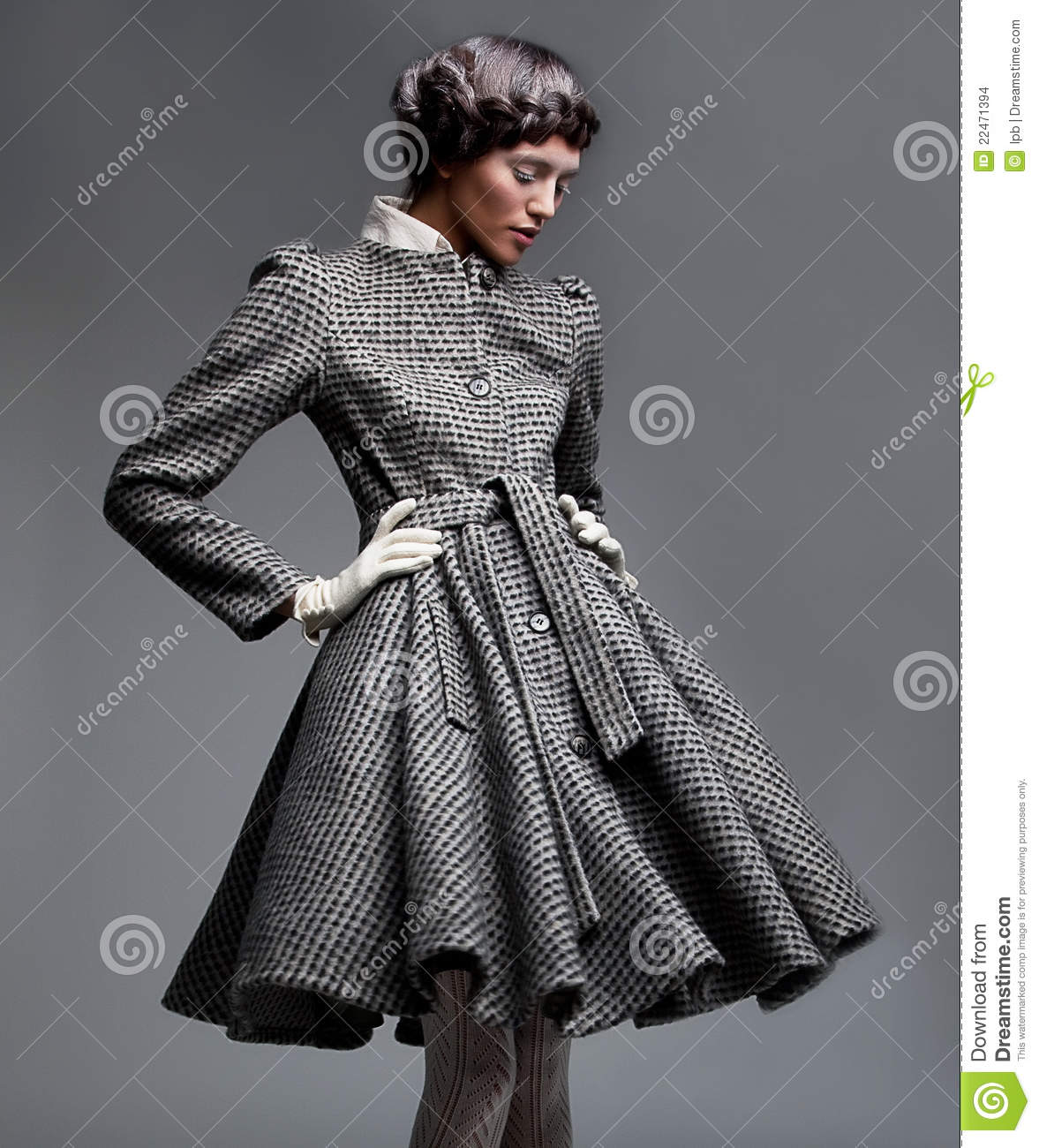 Retro style fashion model in retro apparel stock images image 22471394 - Retro stuhle gunstig ...