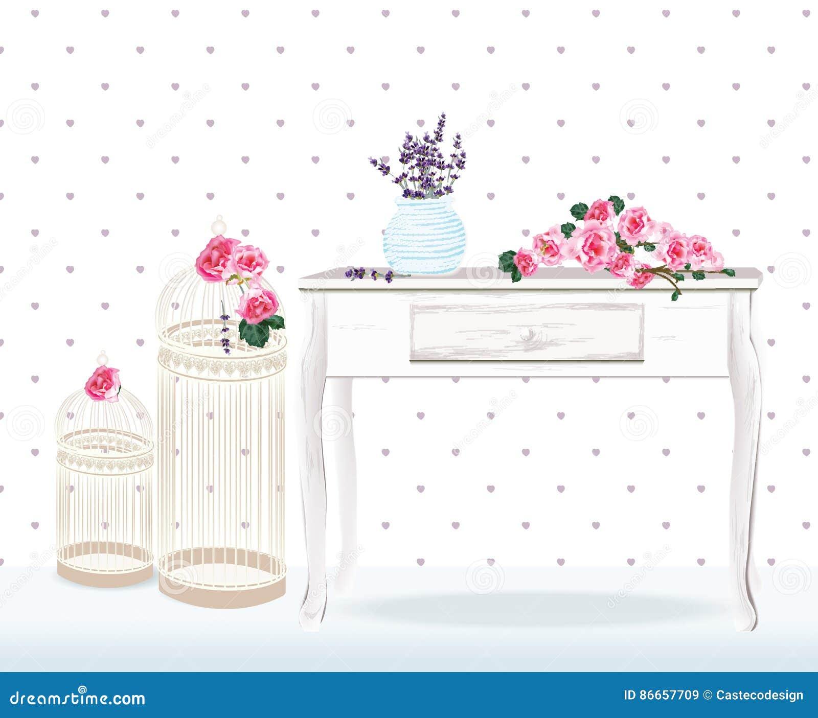 Retro Style Floral Decorations For Wedding Birthday Invitation