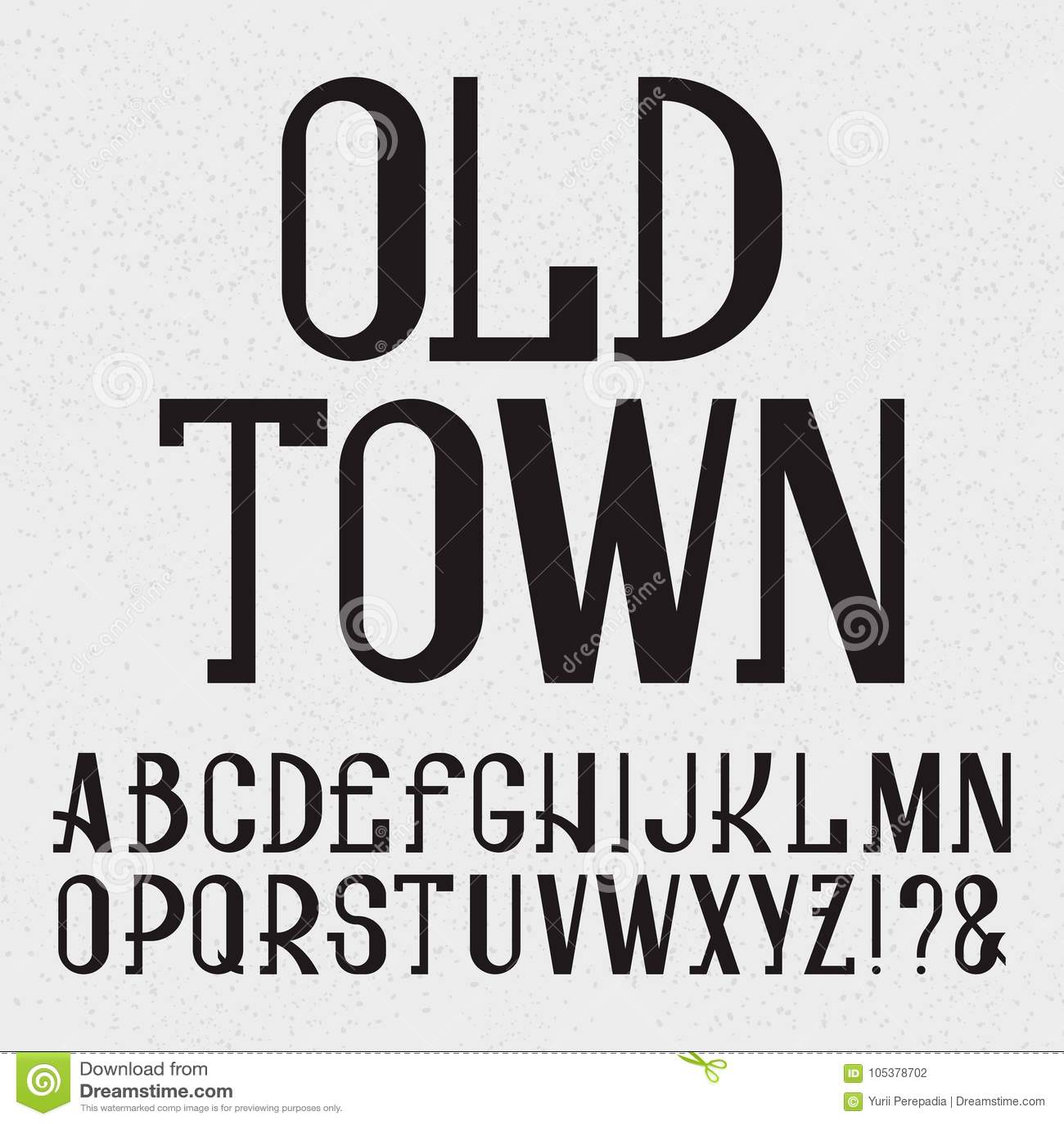 Retro Style Font Black Capital Letters Isolated English Alphabet