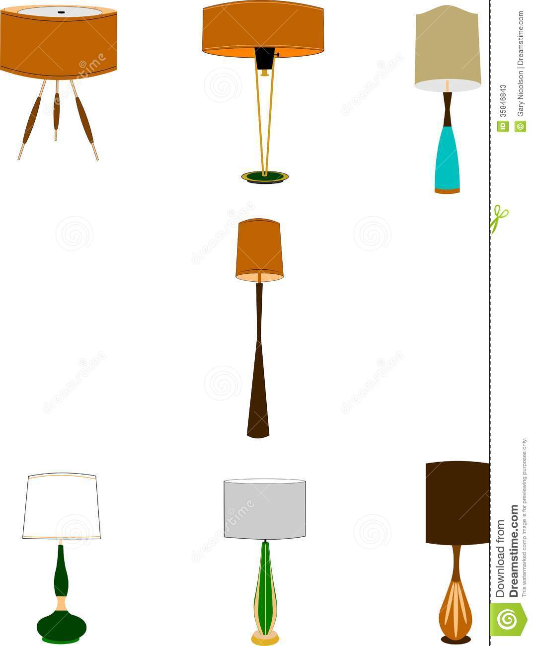 Retro style hopusehold lamps