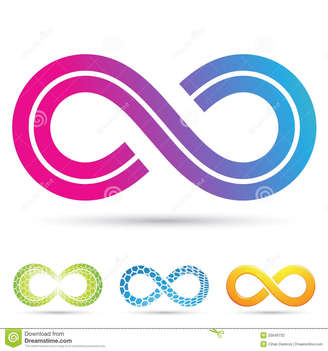 Retro Style Infinity Symbol Stock Vector Illustration Of Dimension