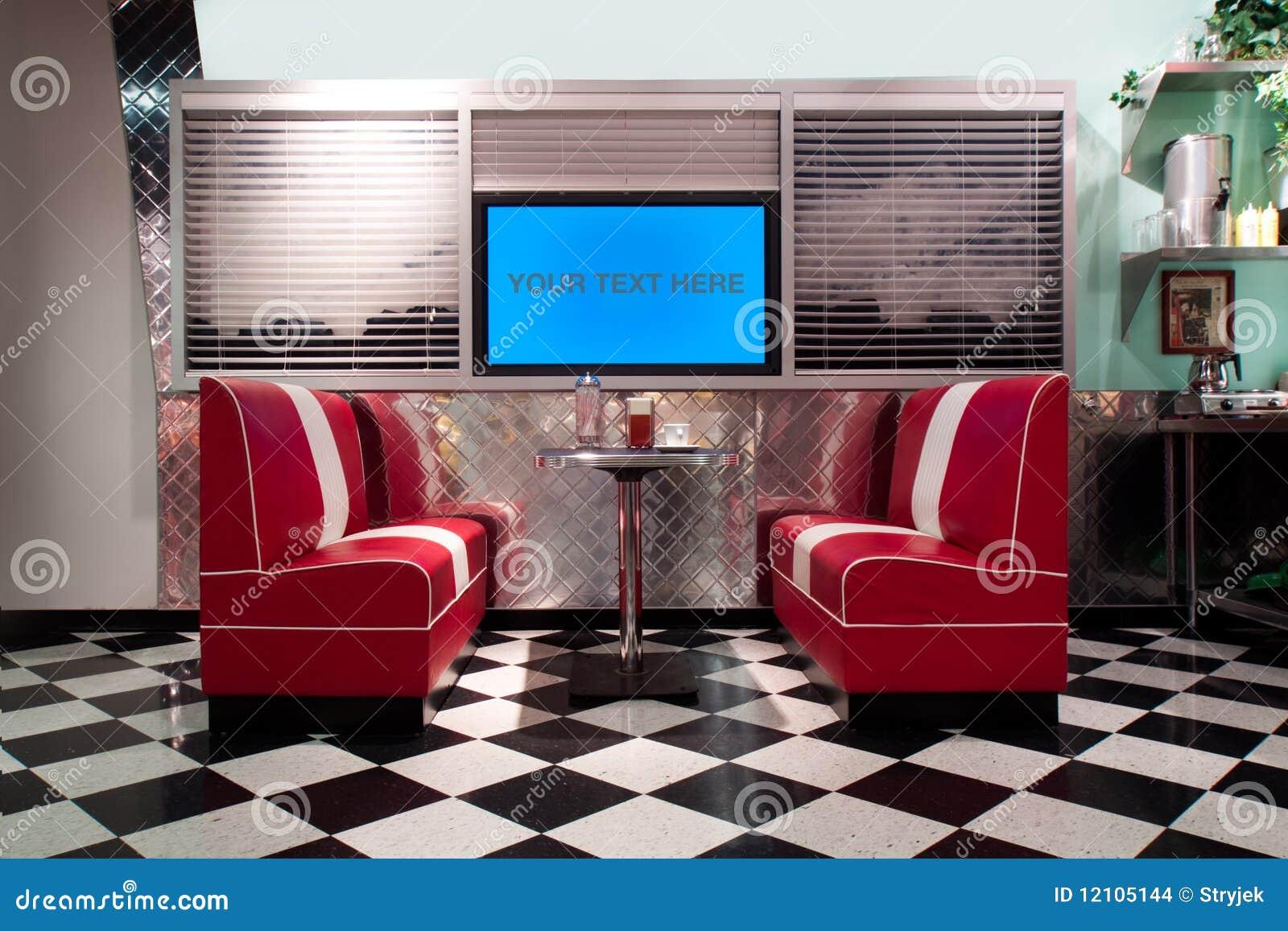 Retro style interior stock photo image of barstool deco