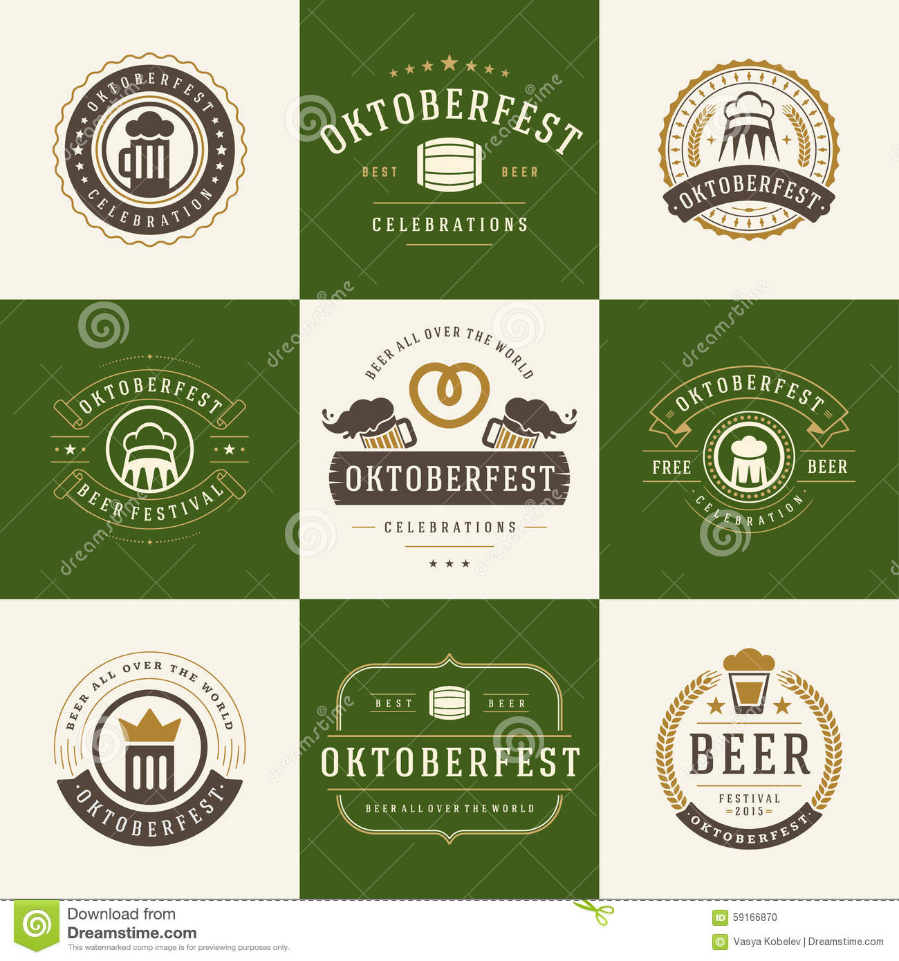 Progressive Logo Design For You Choose The Text Style To: Alcohol Beer Labels Badges Collection Cartoon Vector