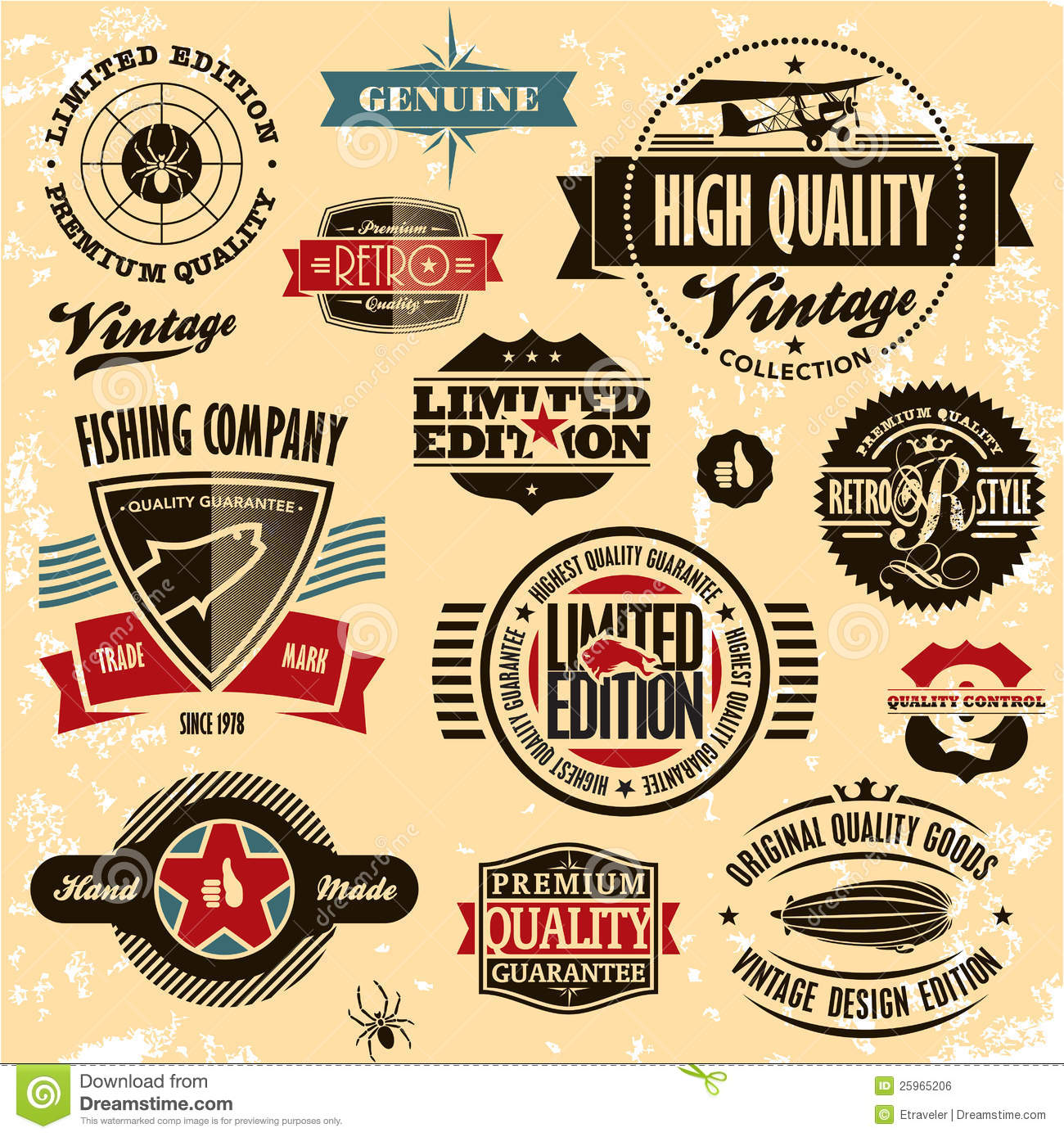 Best Car Warranty >> Retro Style Labels And Badges Vintage Collection. Royalty ...