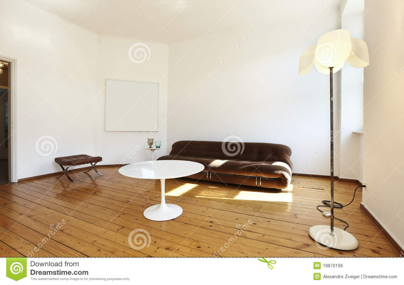 retro style living room apartment refitted view living room royalty free 15597