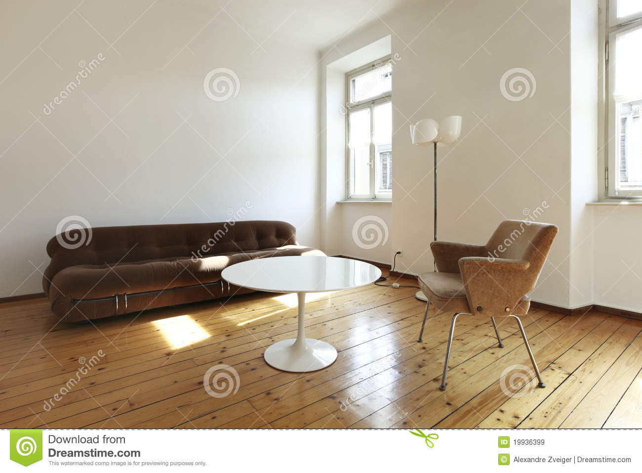 Retro Style Living Room Royalty Free Stock Images Image