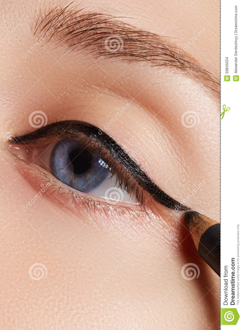 Retro Style Make Up Daily Makeup Detail Eyeliner Beautiful Eyes