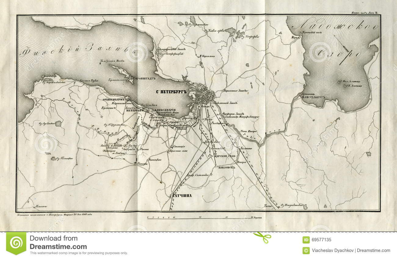 Retro style old map city of sankt petersburg russia old europe download comp gumiabroncs Gallery