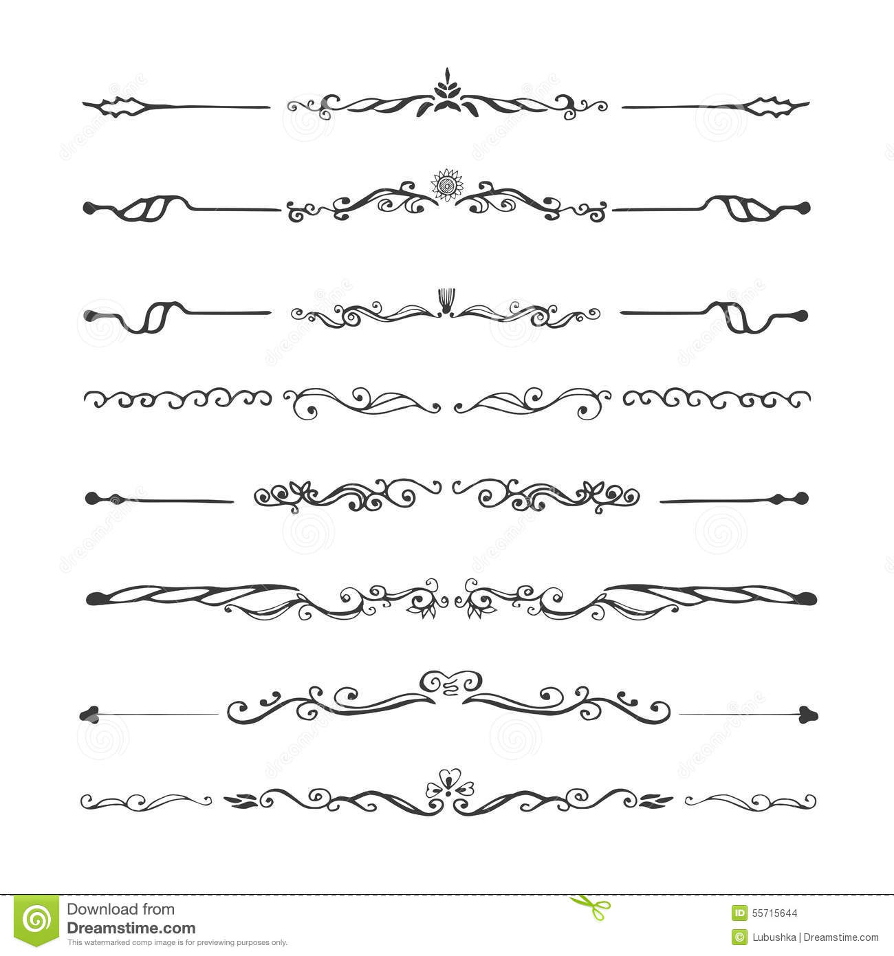 Retro Style Set Of Ornate Floral Patterns Template Stock Vector ...