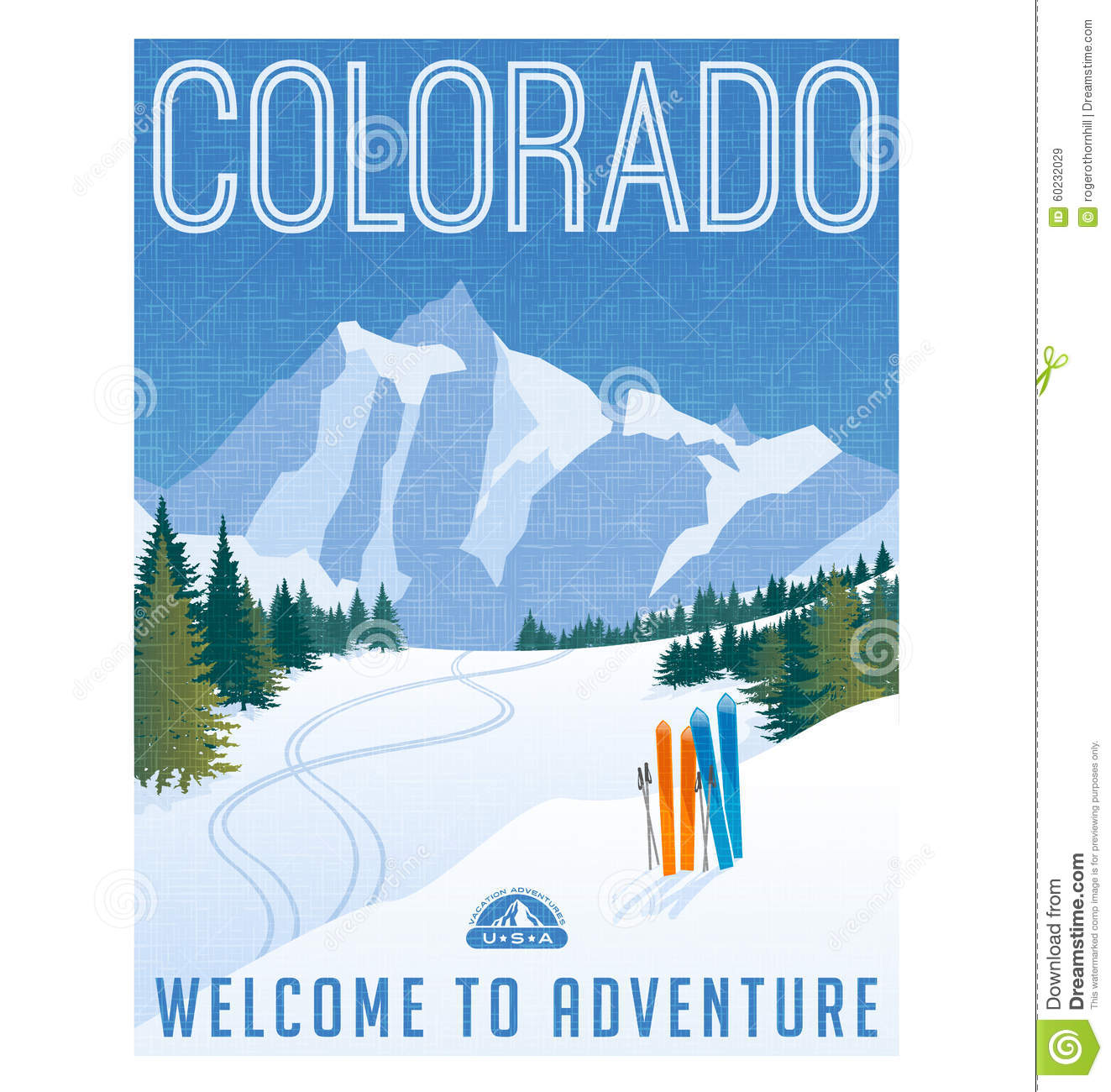Retro Style Travel Poster Or Sticker United States