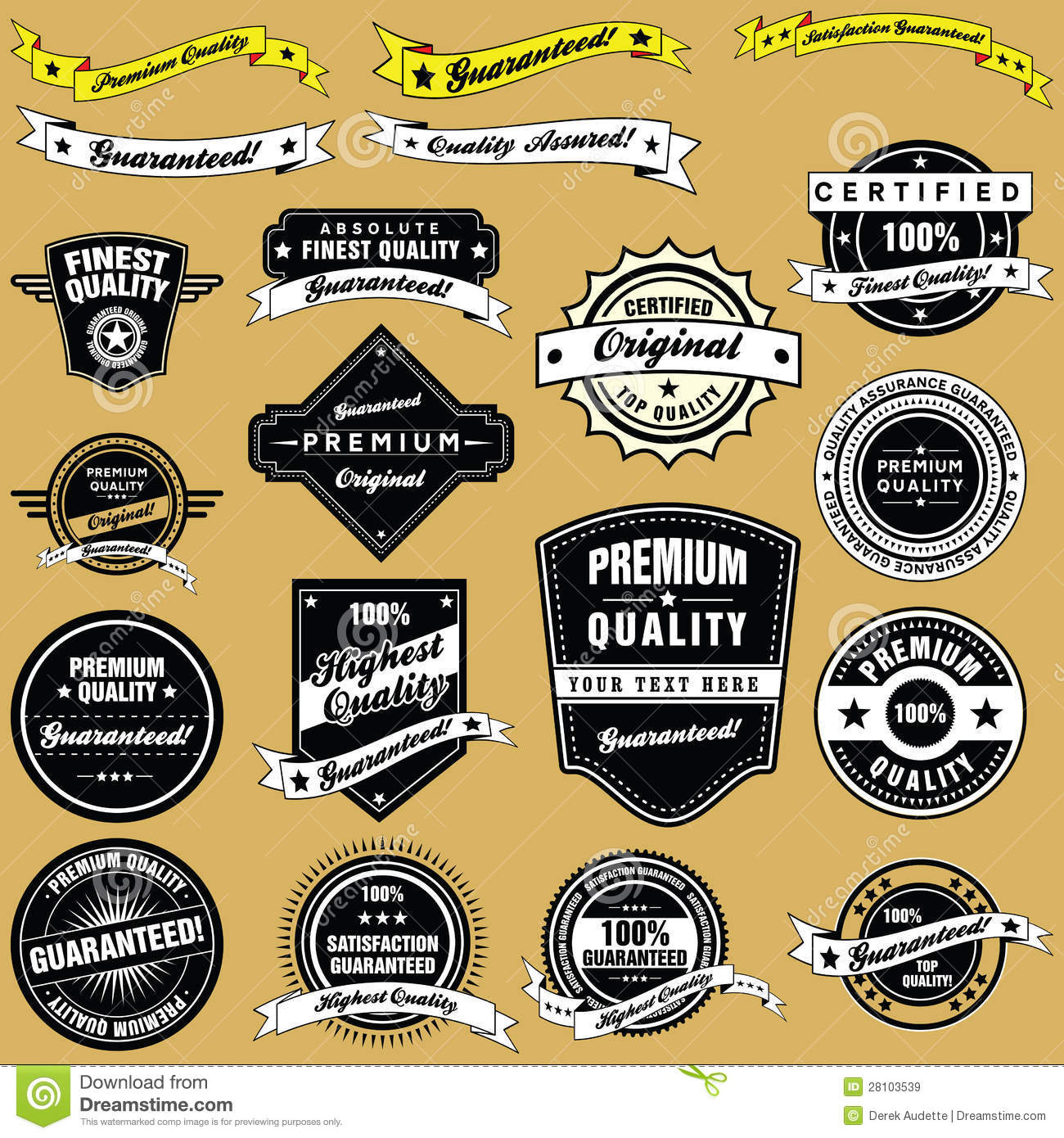retro style vintage labels and emblems collection royalty free stock images image 28103539. Black Bedroom Furniture Sets. Home Design Ideas